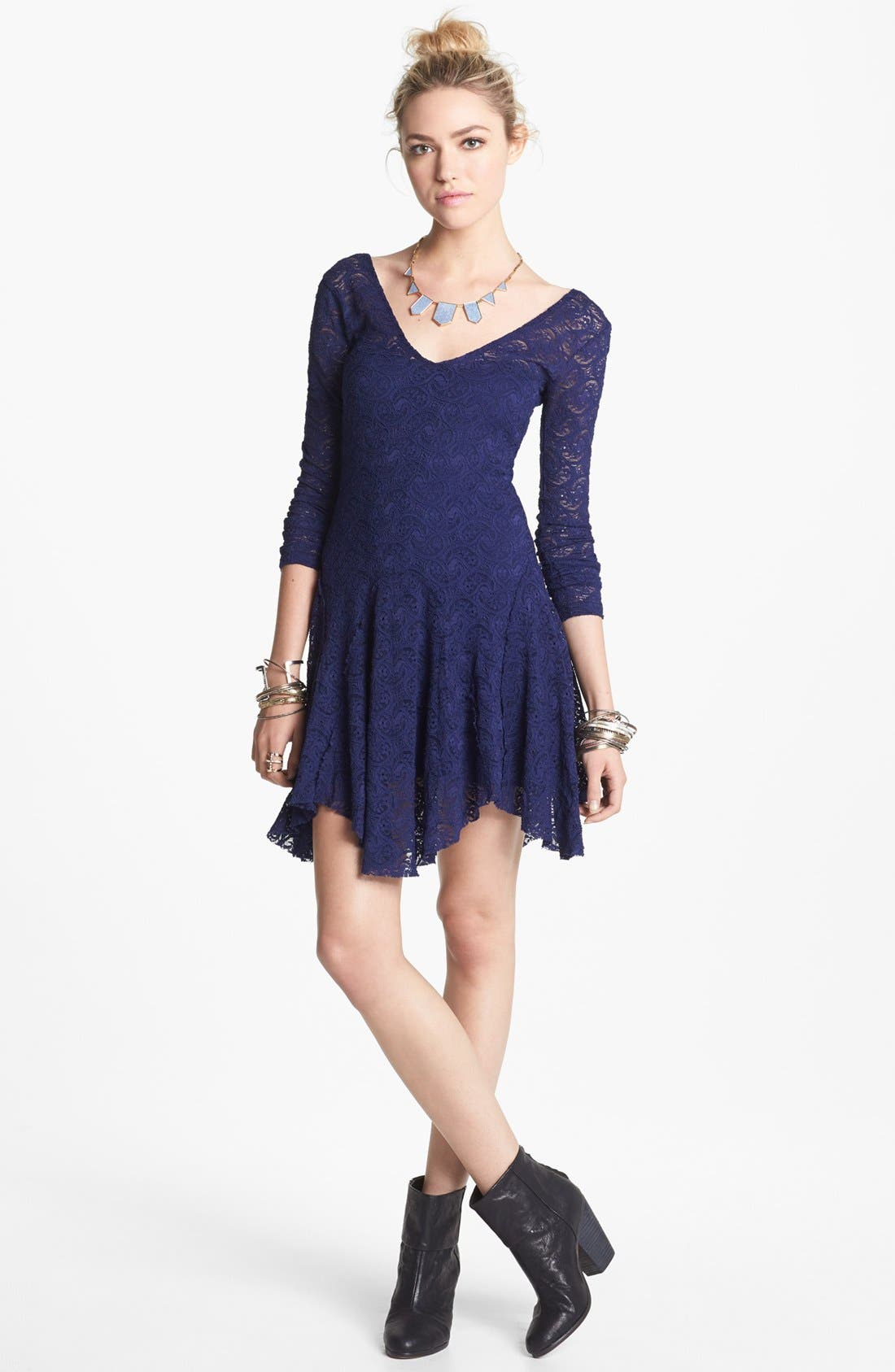 Alternate Image 1 Selected - Free People 'Katya' Paisley Lace Dress