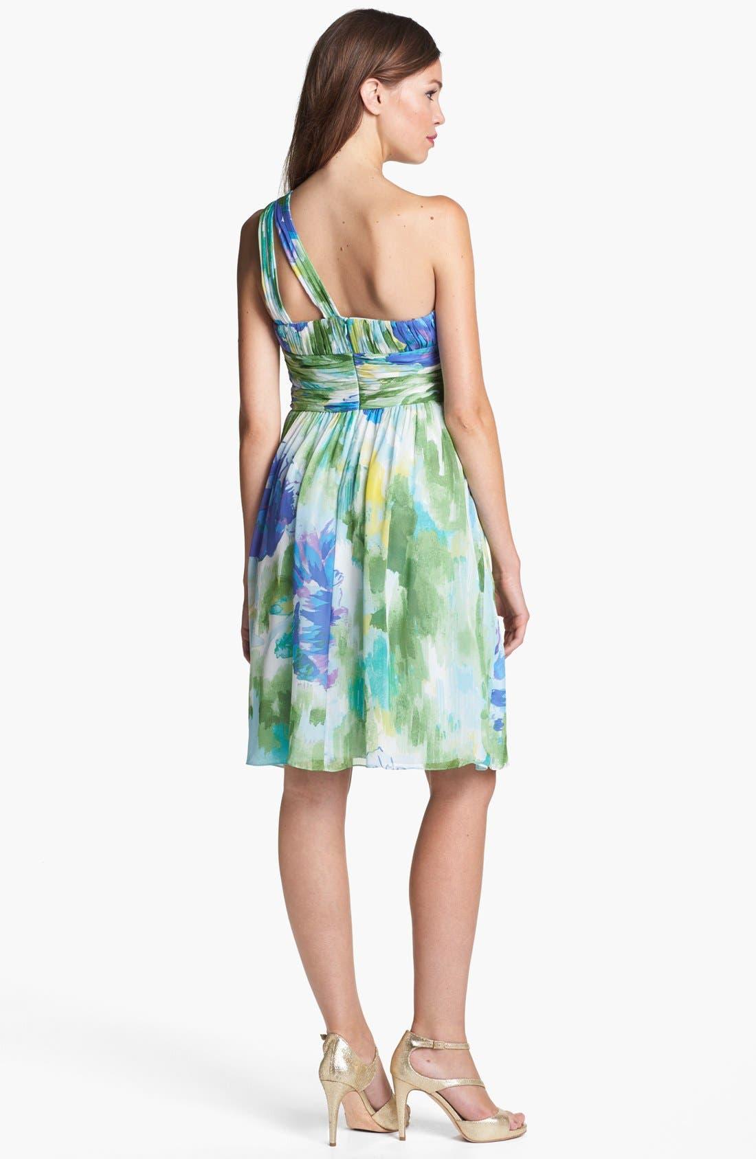 Alternate Image 2  - Donna Morgan 'Rhea' One-Shoulder Print Dress (Online Only)