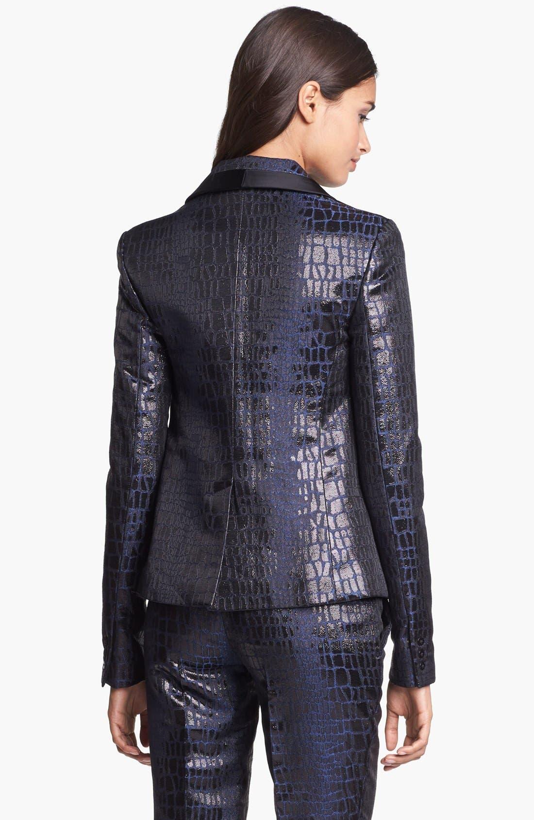 Alternate Image 3  - Diane von Furstenberg 'Ofelia' Metallic Blazer