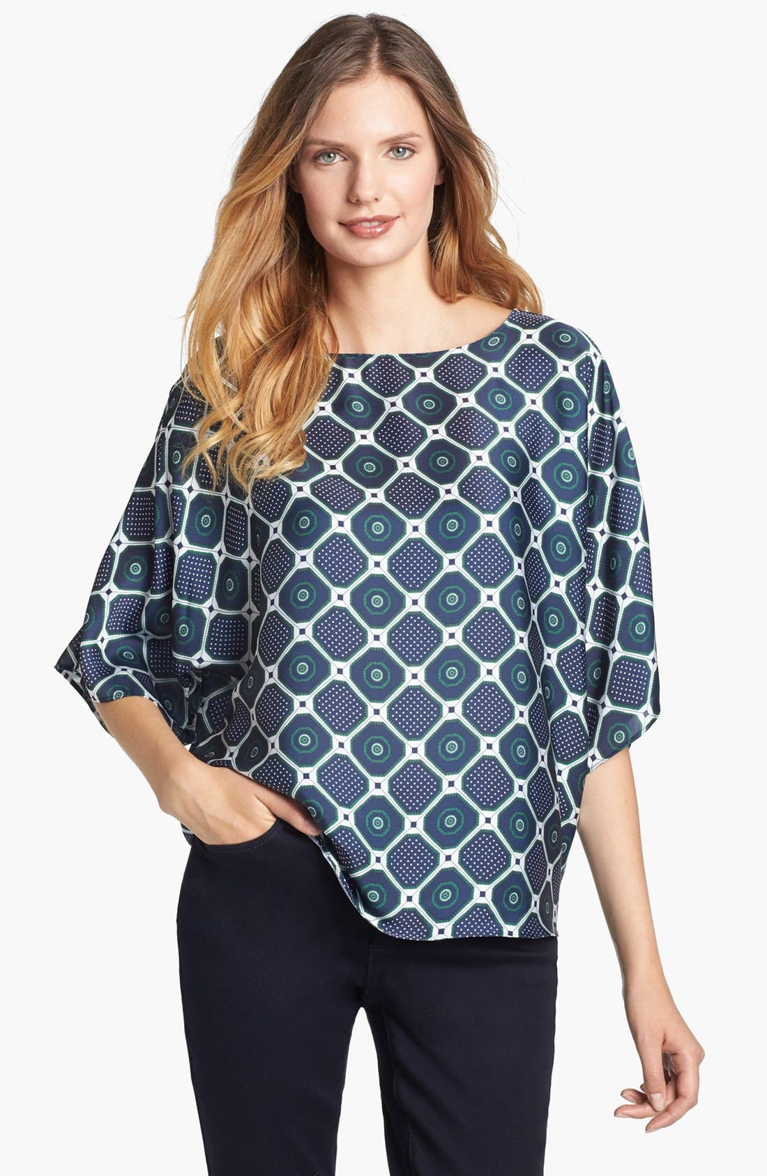 Main Image - MICHAEL Michael Kors Drawstring Side Blouse