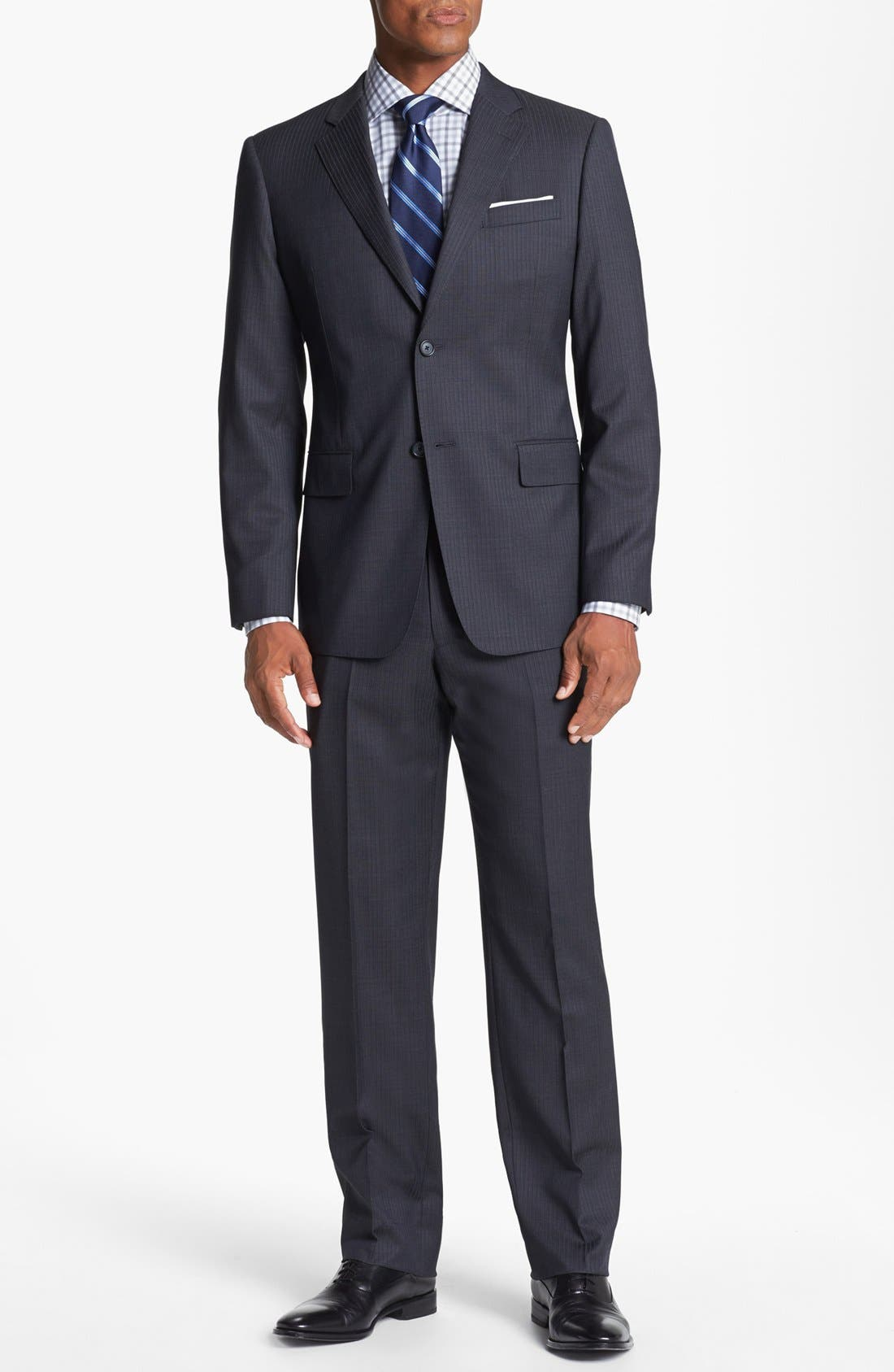 Alternate Image 1 Selected - John W. Nordstrom Classic Fit Stripe Suit