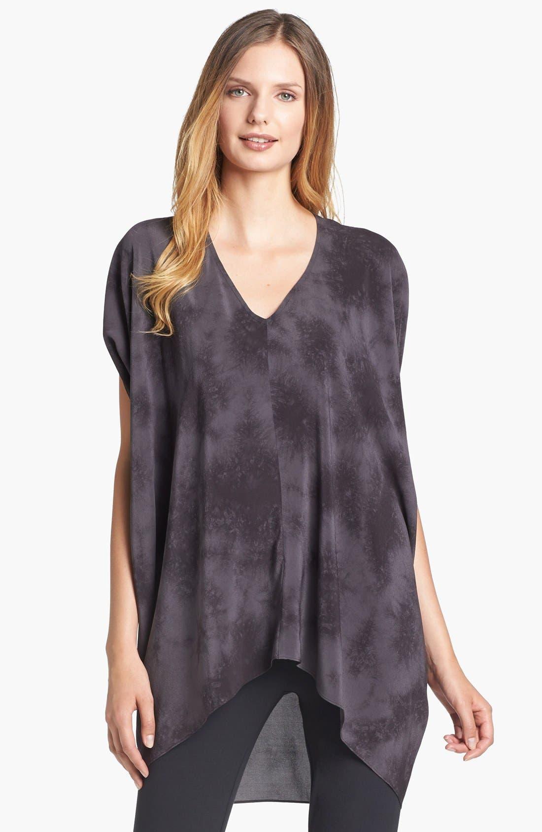 Alternate Image 1 Selected - Eileen Fisher 'Crystalline' V-Neck Silk Shibori Tunic