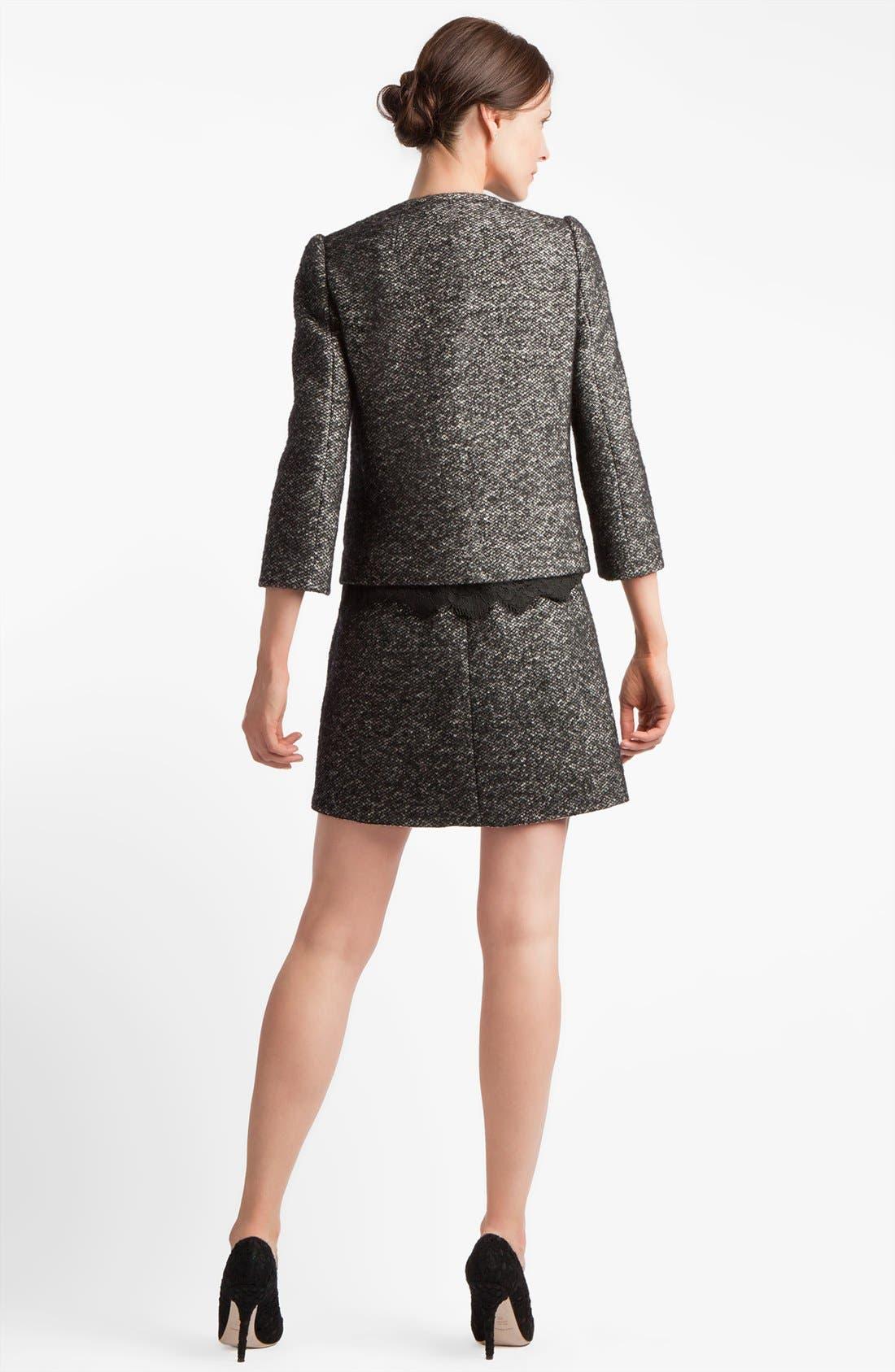 Alternate Image 2  - Dolce&Gabbana Collarless Tweed Jacket