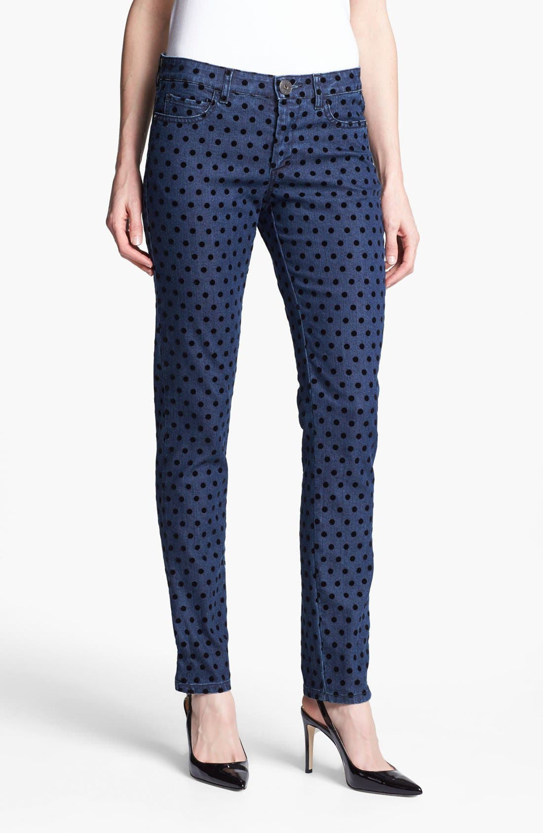 Main Image - Weekend Max Mara 'Cirella' Flocked Dot Jeans