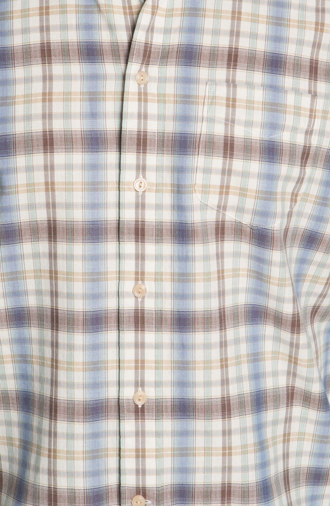 Alternate Image 3  - Façonnable Club Fit Plaid Sport Shirt