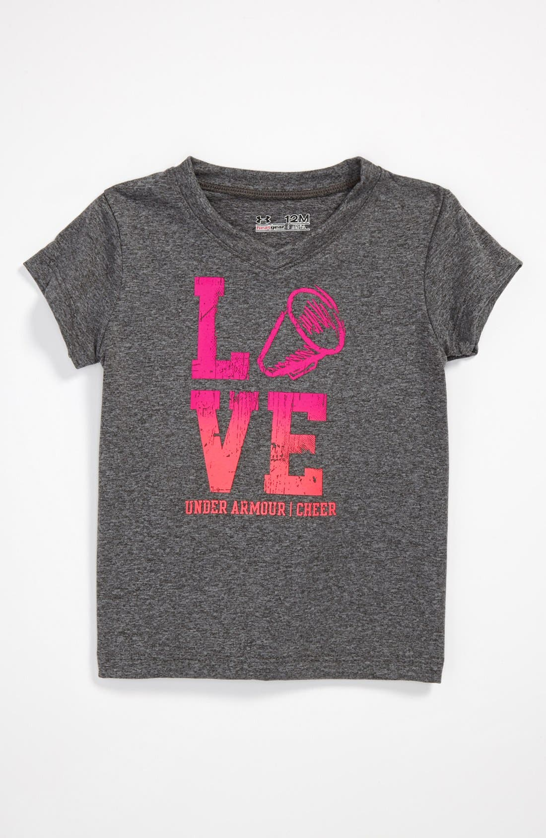 Alternate Image 1 Selected - Under Armour 'Cheer' Tee (Baby Girls)