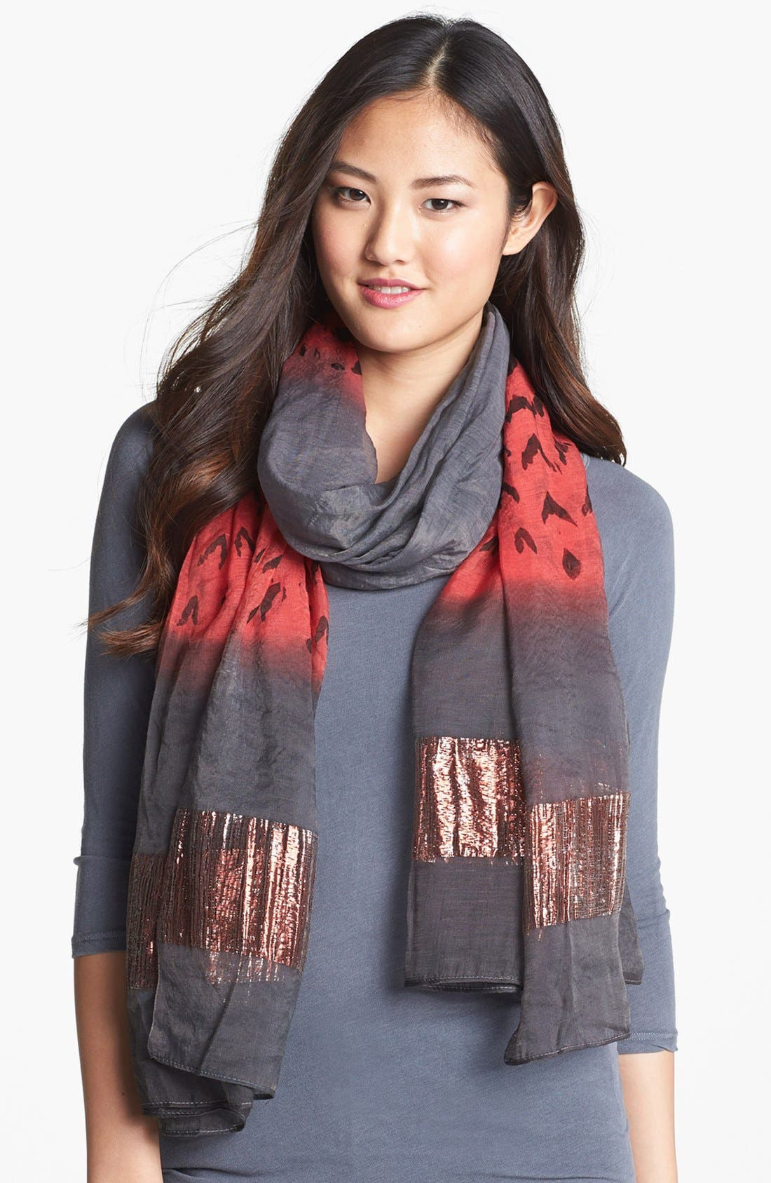 Main Image - Roffe Accessories Metallic Trim Scarf