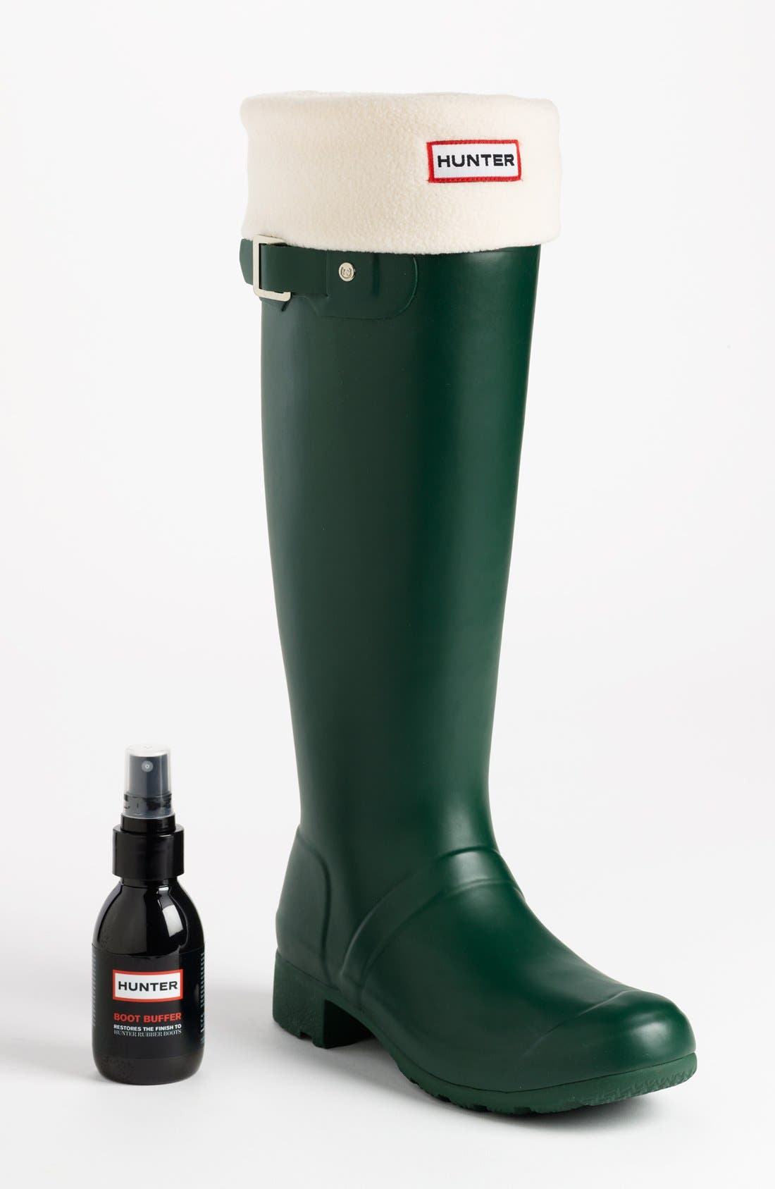 Alternate Image 2  - Hunter 'Tour' Packable Rain Boot, Fleece Welly Socks & Boot Buffer Spray