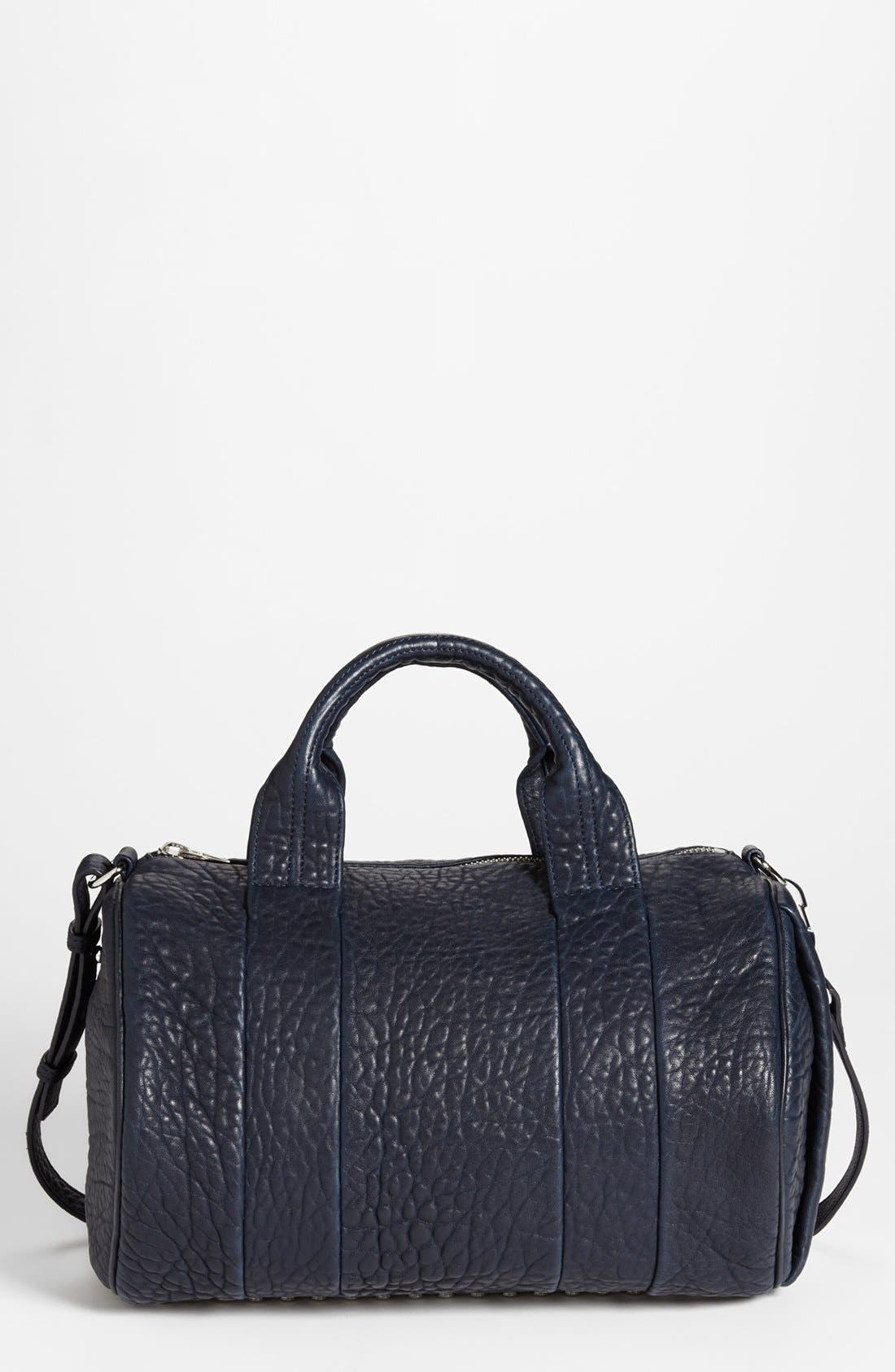 Alternate Image 1 Selected - Alexander Wang 'Rocco - Dumbo Rhodium' Leather Satchel