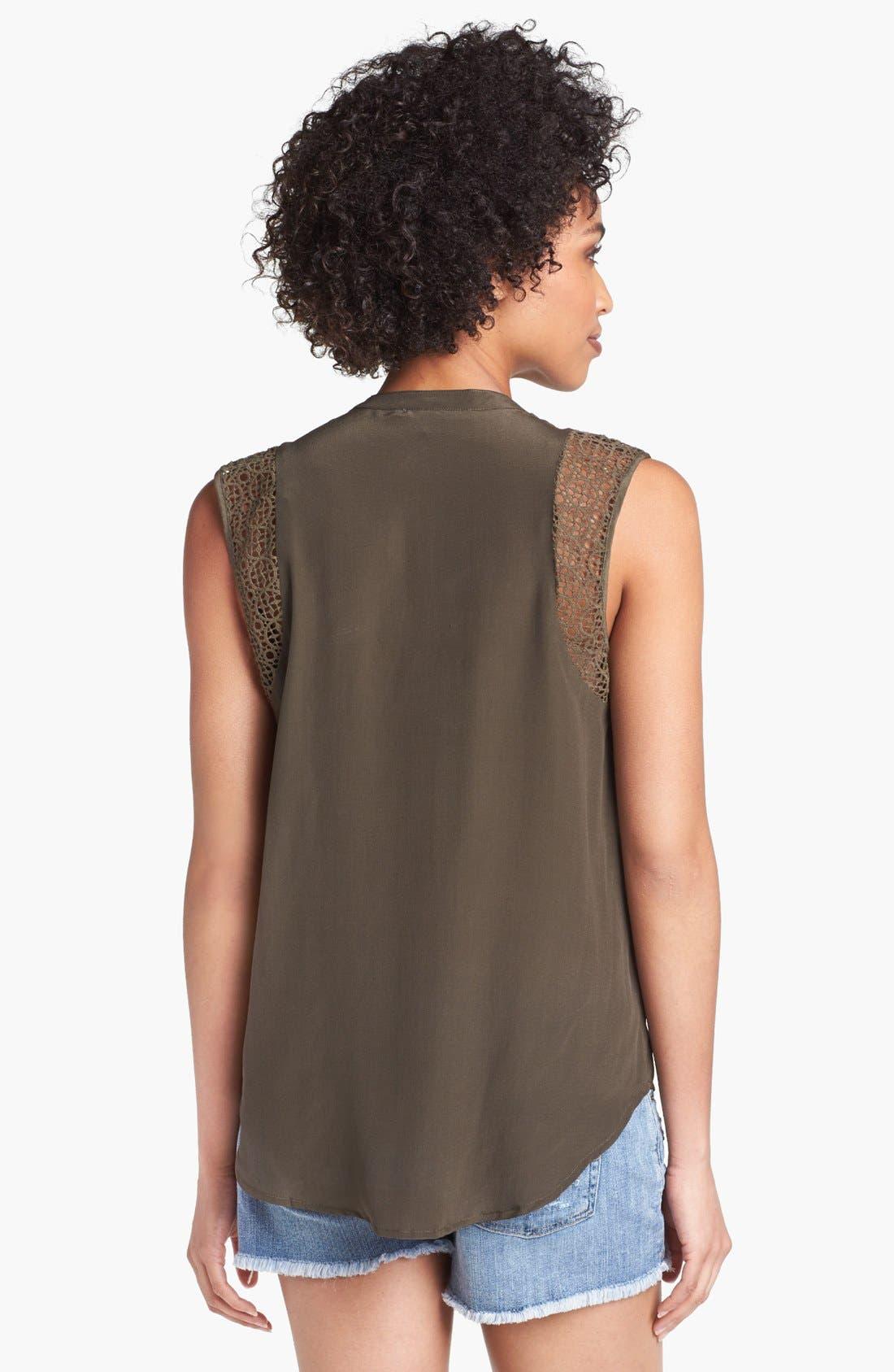 Alternate Image 2  - Daniel Rainn Crochet Shoulder Sleeveless Blouse