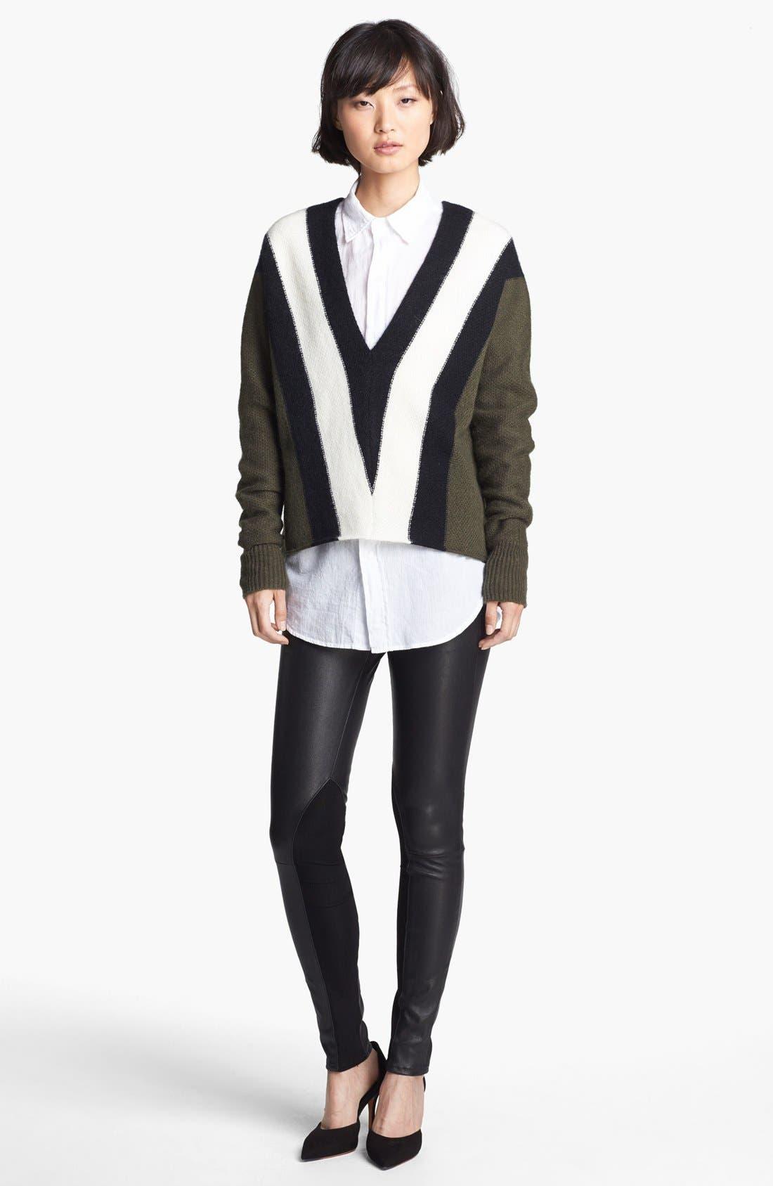 Alternate Image 4  - rag & bone/JEAN 'The Reverse' Leather Pants