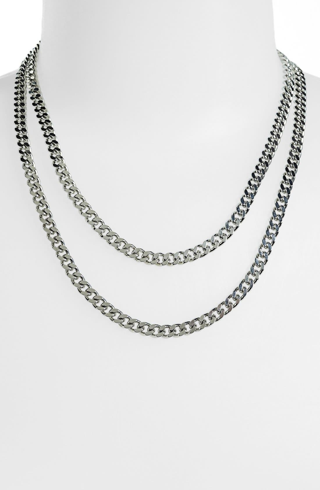 Alternate Image 2  - Nordstrom Long Flat Link Necklace