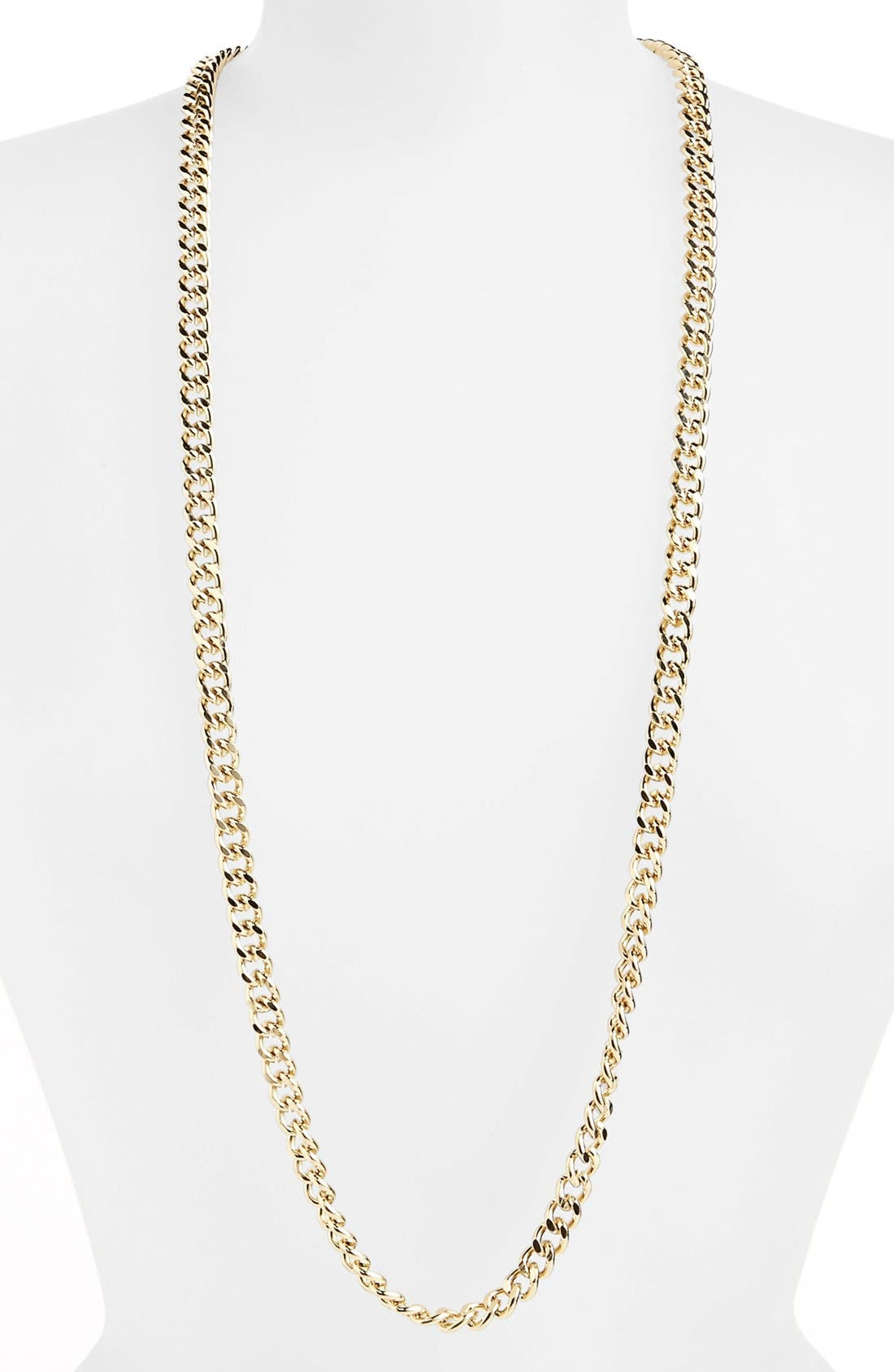 Main Image - Topshop Long Curb Chain Necklace