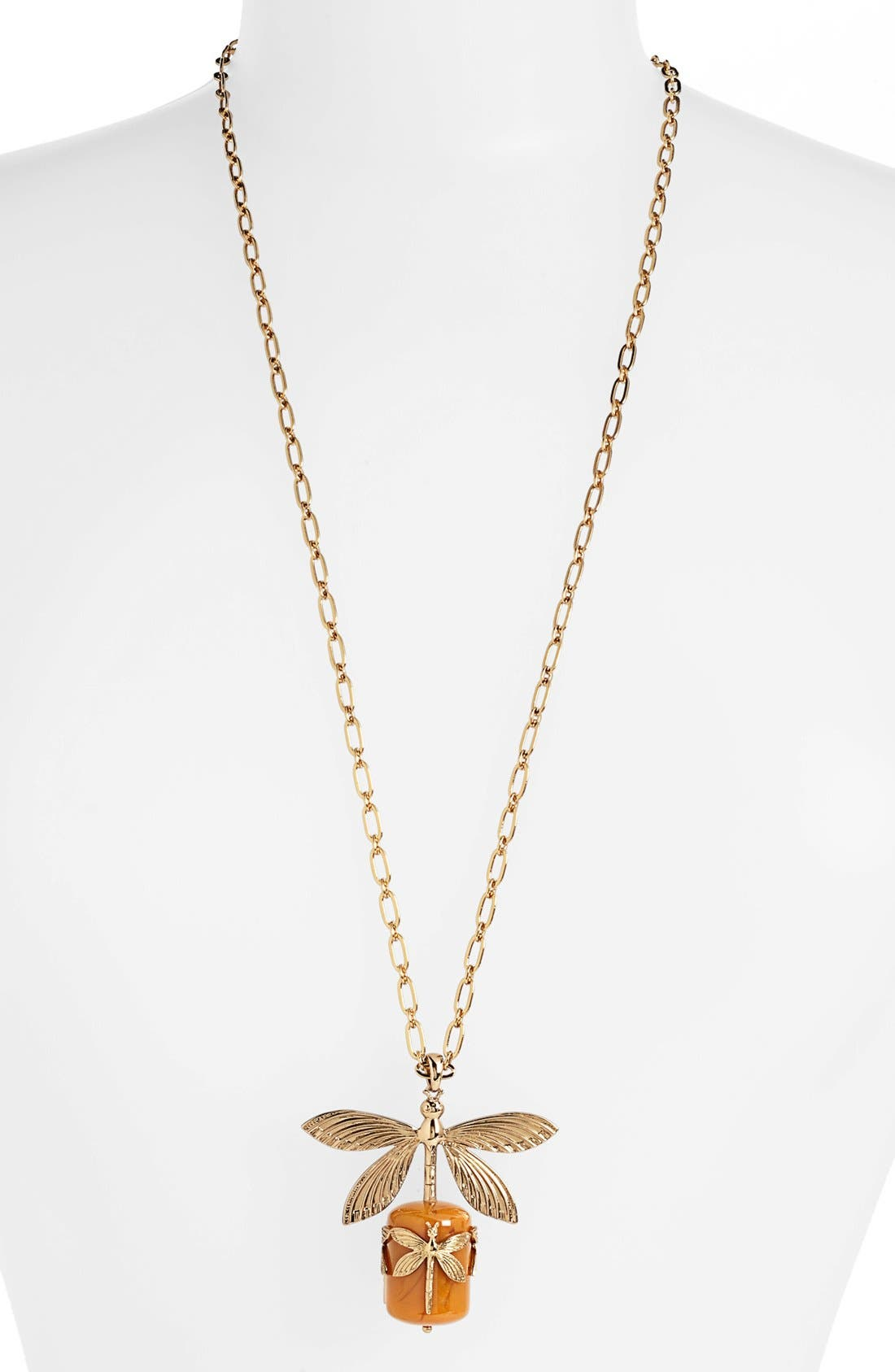 Alternate Image 1 Selected - Tory Burch Dragonfly Pendant Necklace