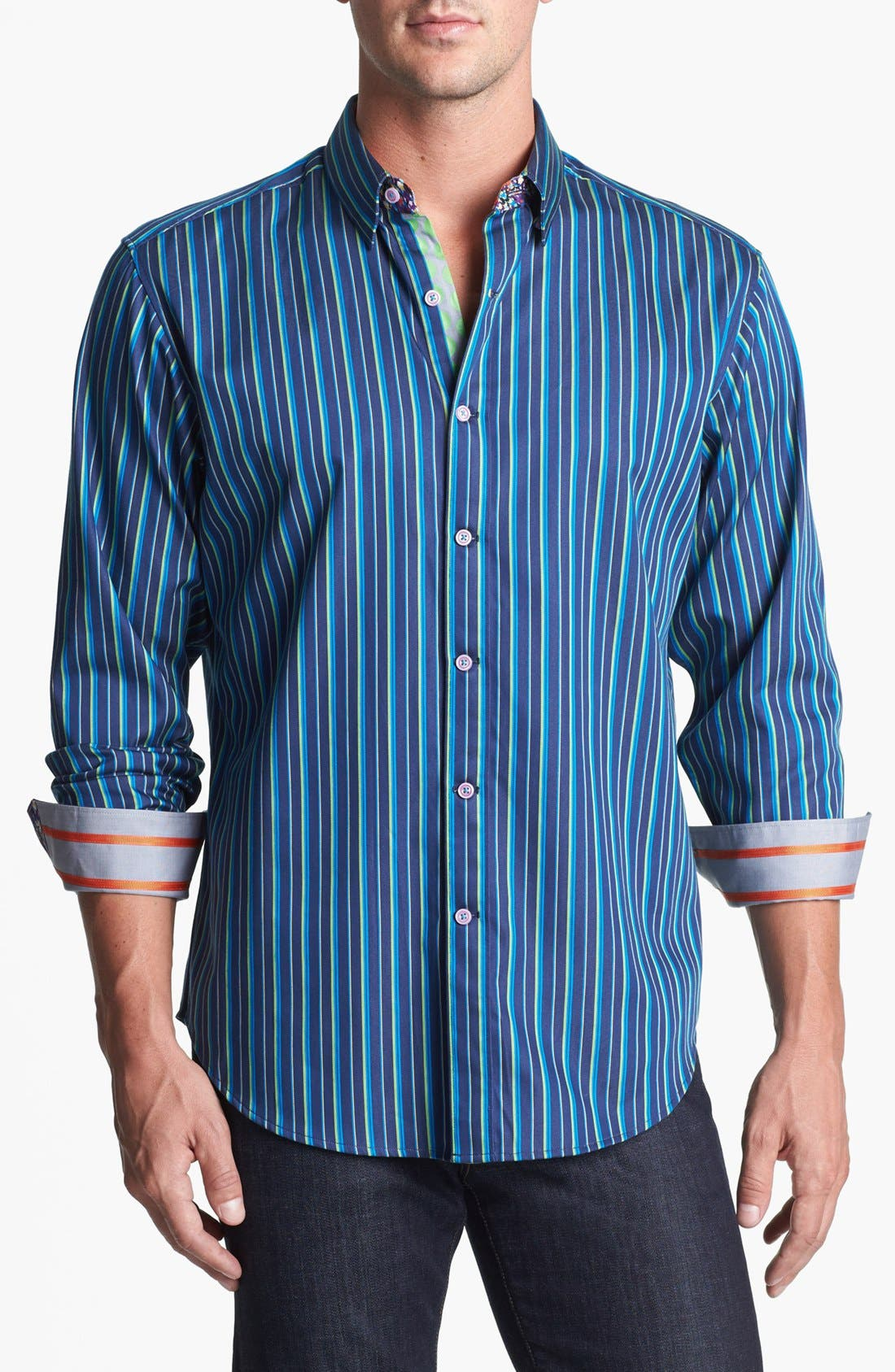 Alternate Image 1 Selected - Robert Graham 'Skimmer' Tailored Fit Sport Shirt