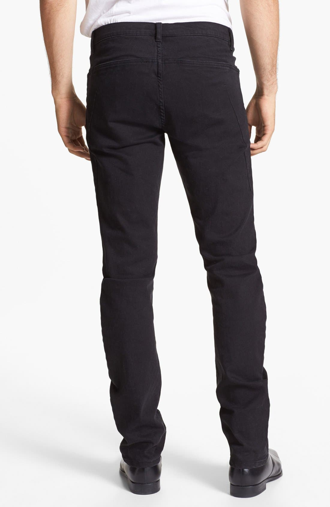 Alternate Image 2  - Kenneth Cole Collection Slim Fit Jeans (Black)