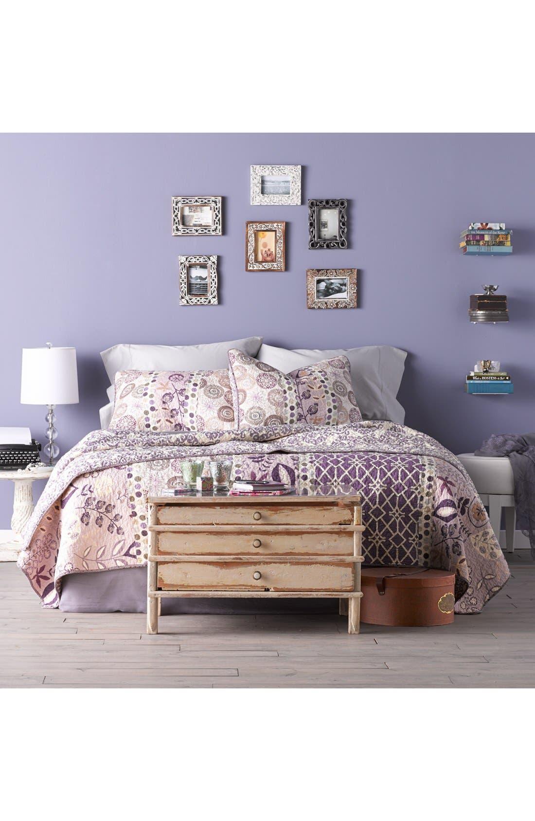 Alternate Image 3  - LAMP-IN-A-BOX Purple Striped Table Lamp