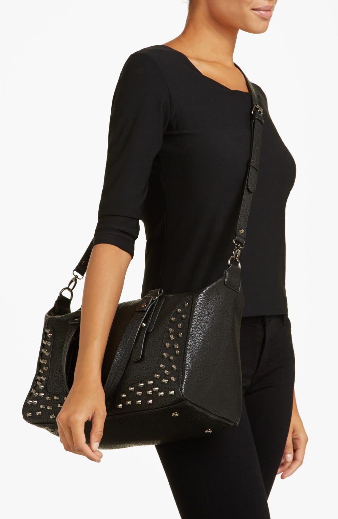 Alternate Image 2  - Cesca 'Large' Studded Crossbody Bag (Juniors)