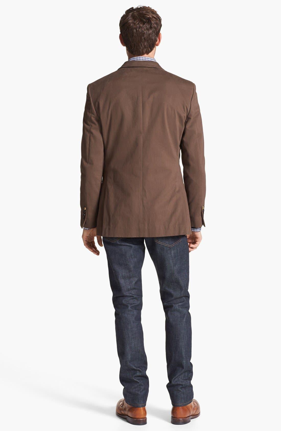 Alternate Image 4  - Wallin & Bros. Extra Trim Fit Cotton Twill Blazer