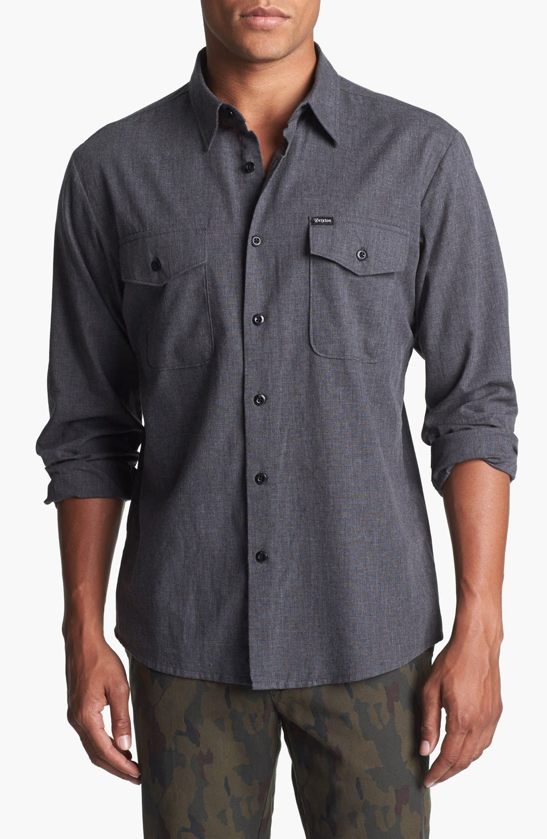 Alternate Image 1 Selected - Brixton 'Davis' Woven Shirt