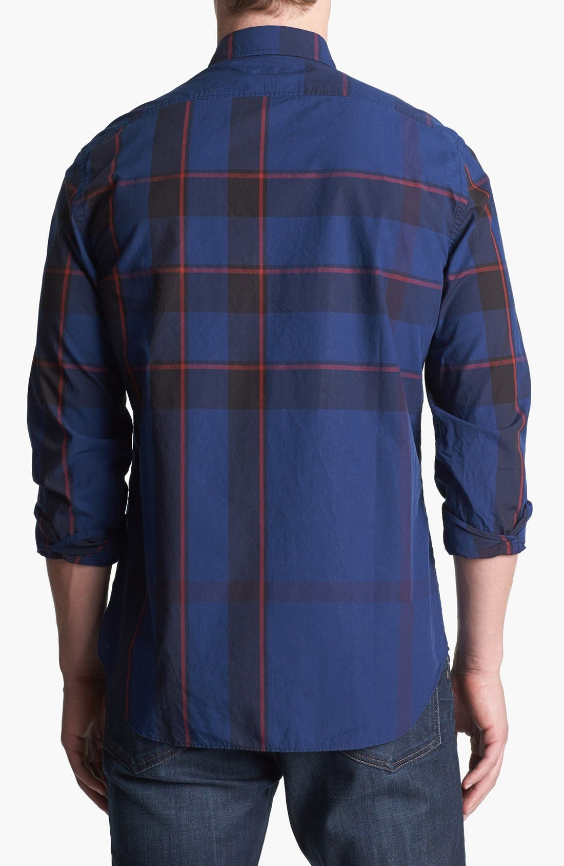 Alternate Image 2  - Burberry Brit 'Fred' Check Trim Fit Cotton Sport Shirt