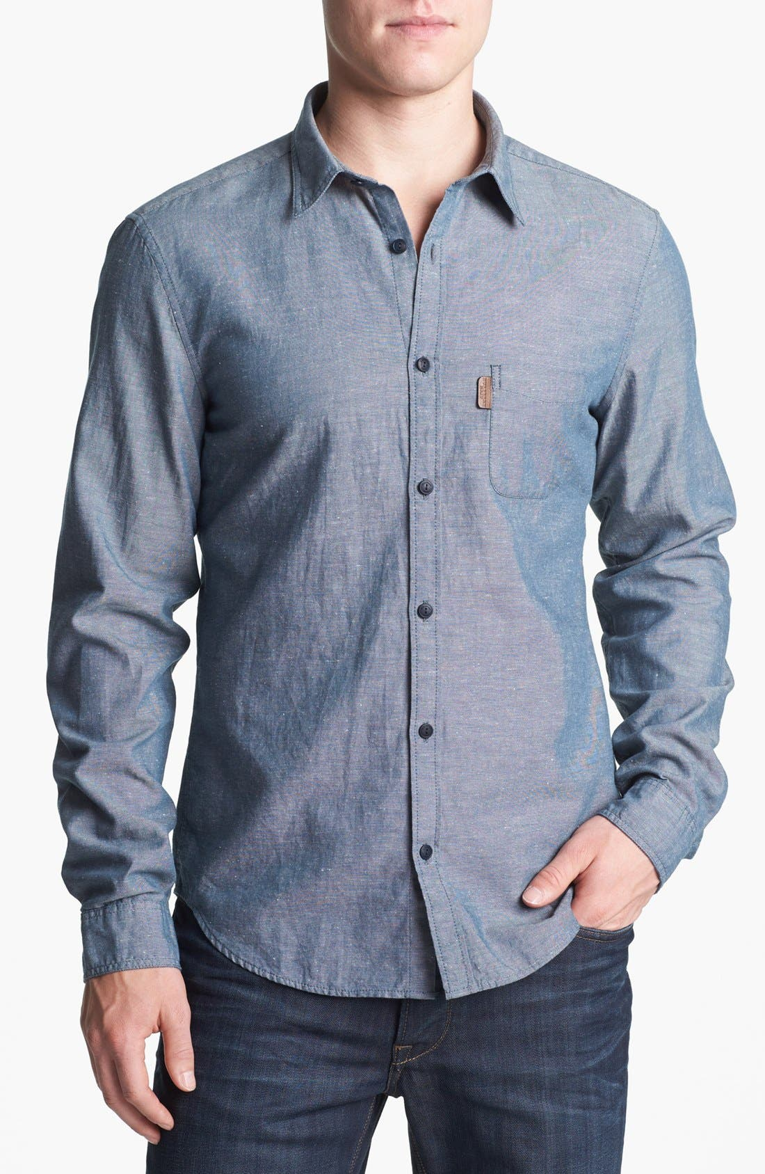 Alternate Image 1 Selected - Burberry Brit 'Adken' Trim Fit Cotton Blend Sport Shirt