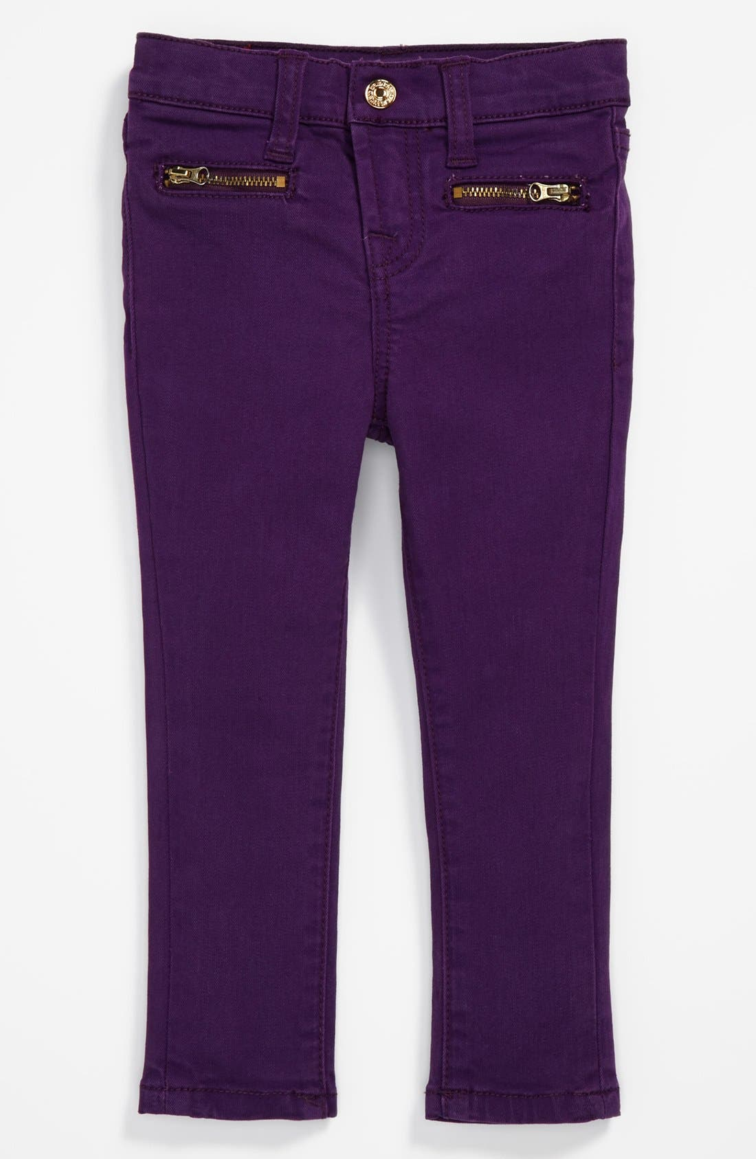 Alternate Image 2  - 7 For All Mankind® 'The Skinny' Jeans (Toddler Girls)