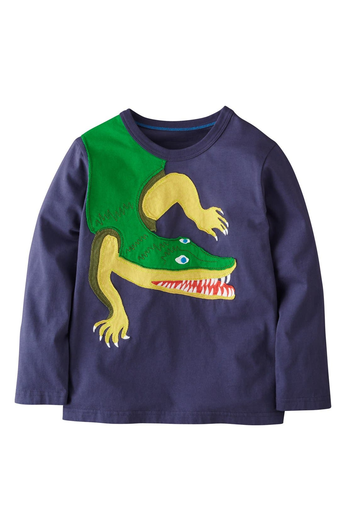 Alternate Image 1 Selected - Mini Boden 'Big Creature' Appliqué T-Shirt (Toddler Boys, Little Boys & Big Boys)