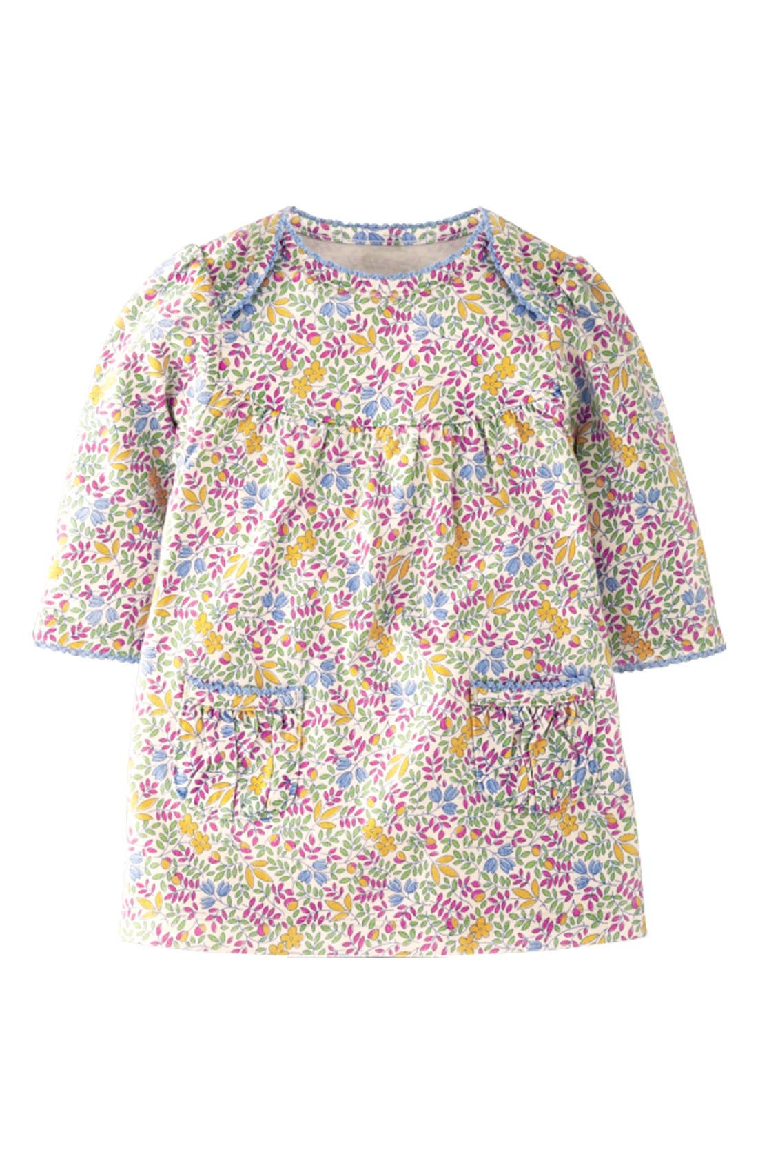 Alternate Image 1 Selected - Mini Boden Dress & Tights (Baby Girls)