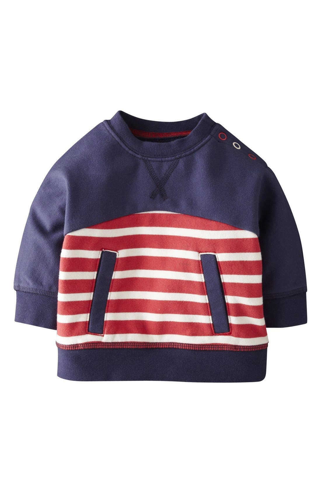Alternate Image 1 Selected - Mini Boden 'Hotchpotch' Pullover (Baby Boys)