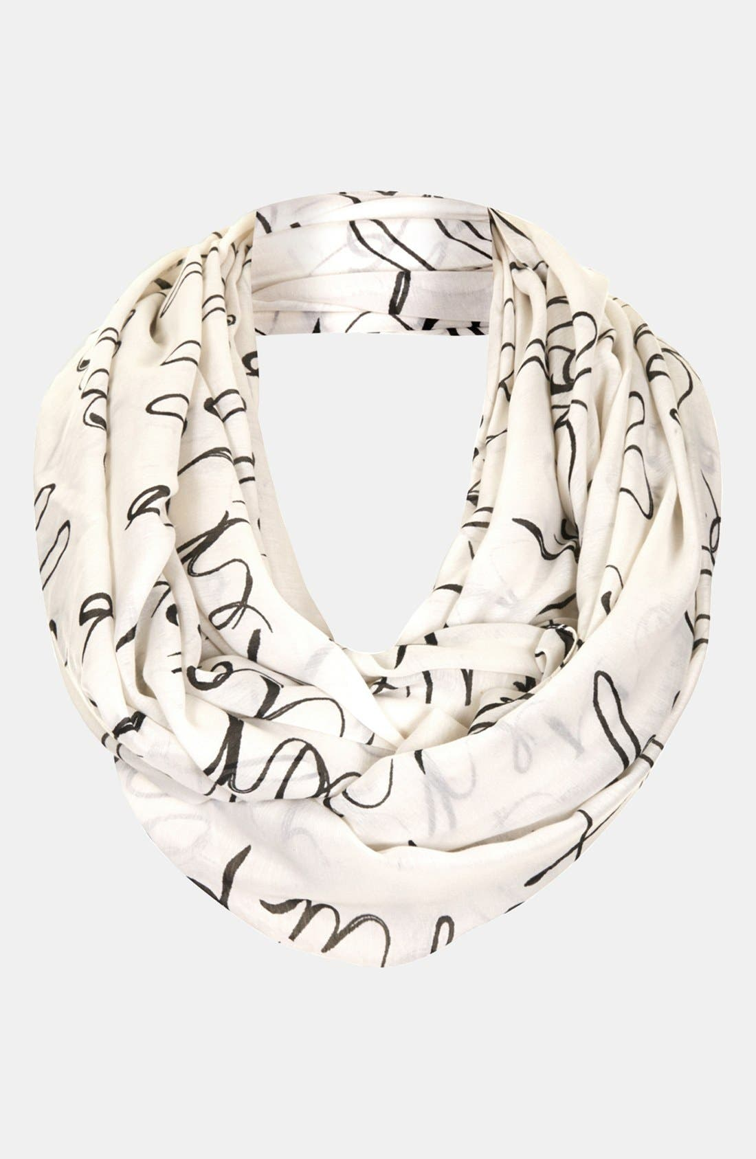 Main Image - Topshop 'Hello Poem' Infinity Scarf