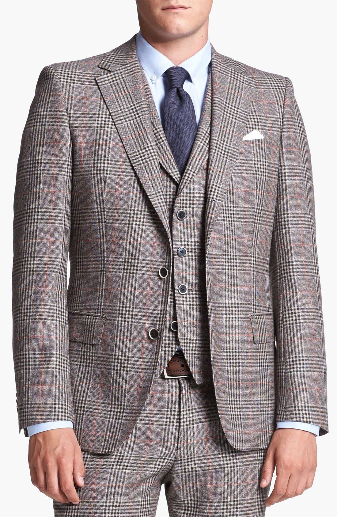 Alternate Image 4  - BOSS HUGO BOSS 'Dunham/Knight' Trim Fit Three Piece Suit (Online Only)