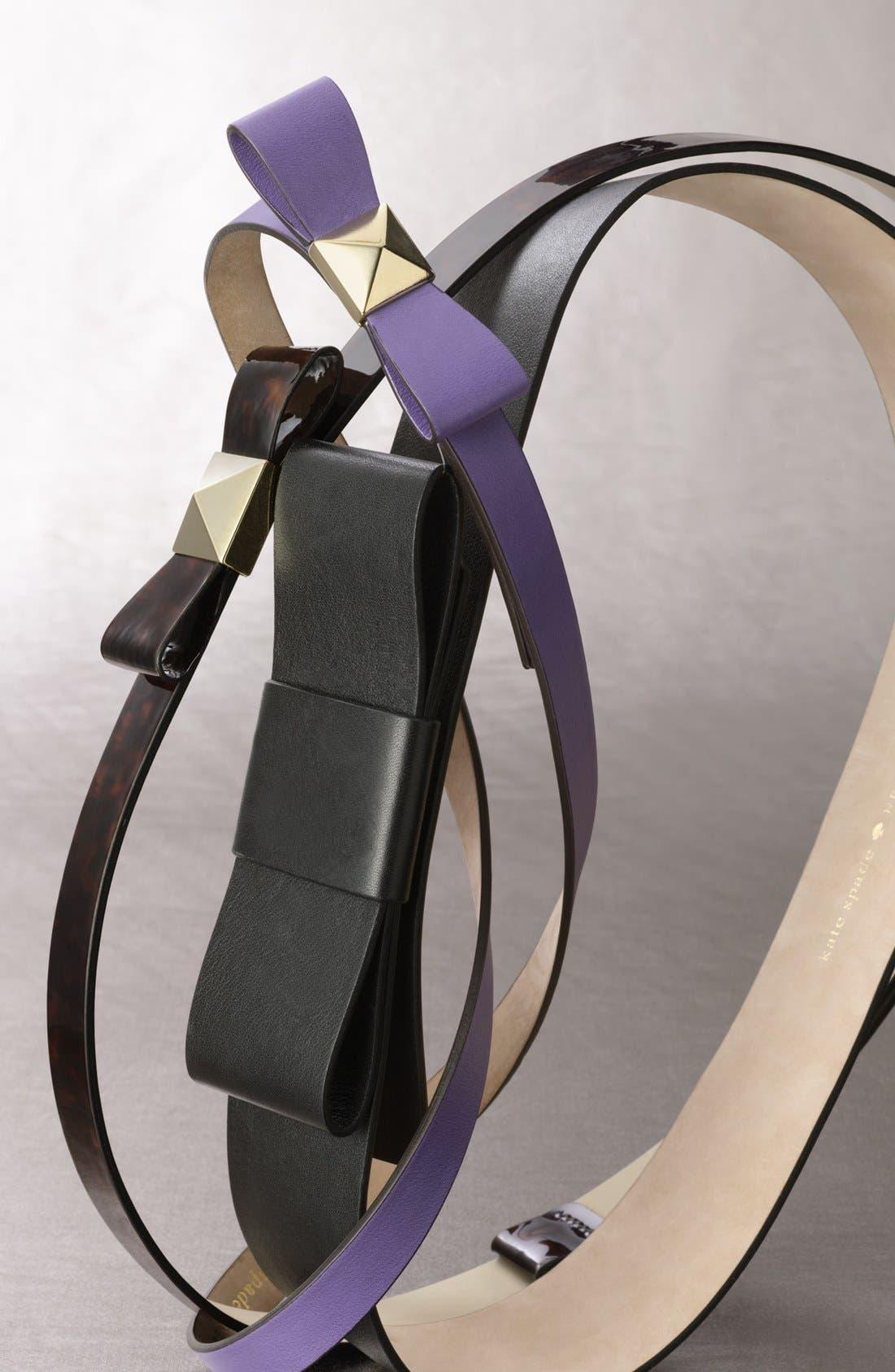 Alternate Image 2  - kate spade new york 'pyramid bow' leather belt