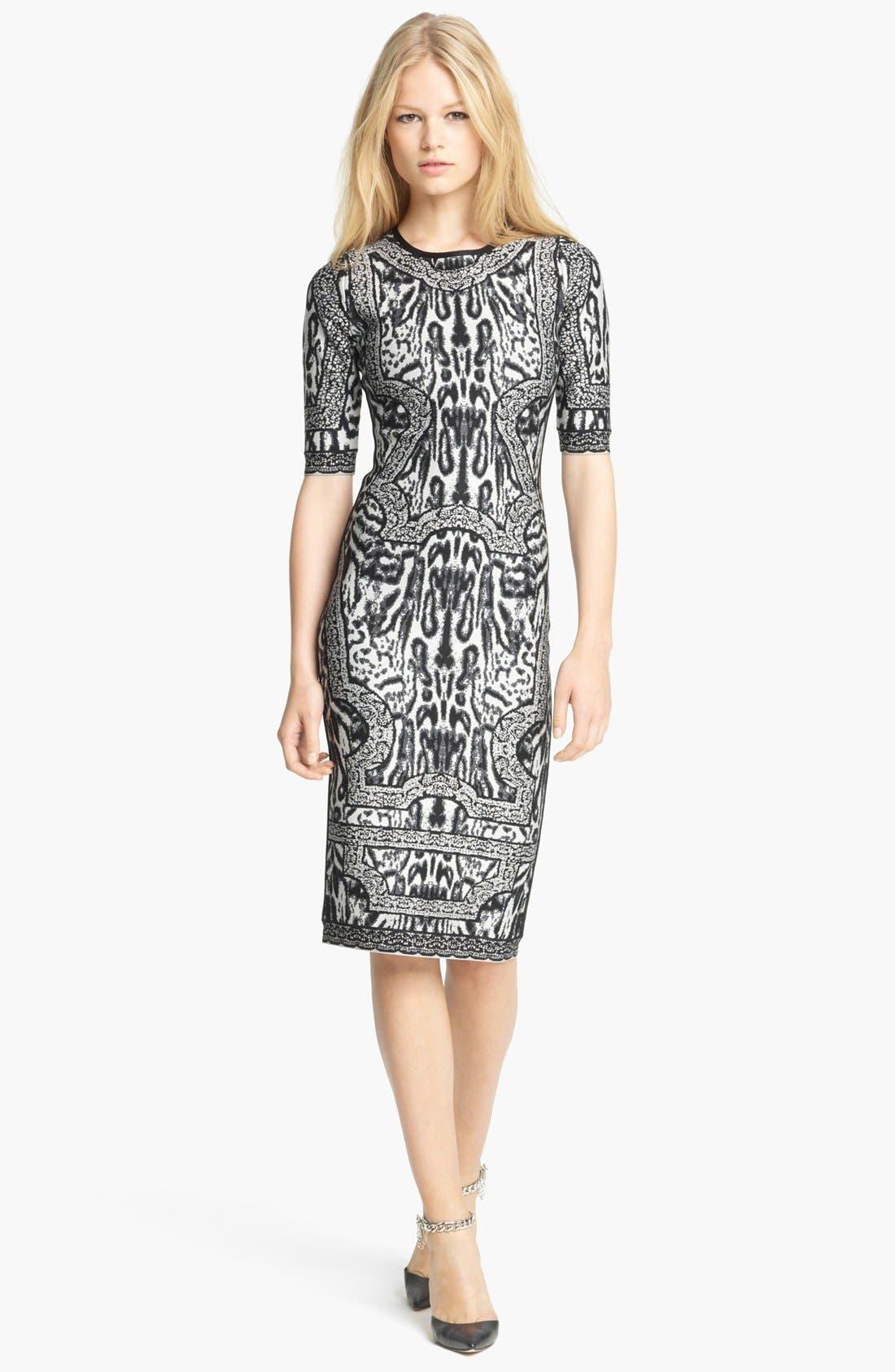 Main Image - Herve Leger Animal Print Dress