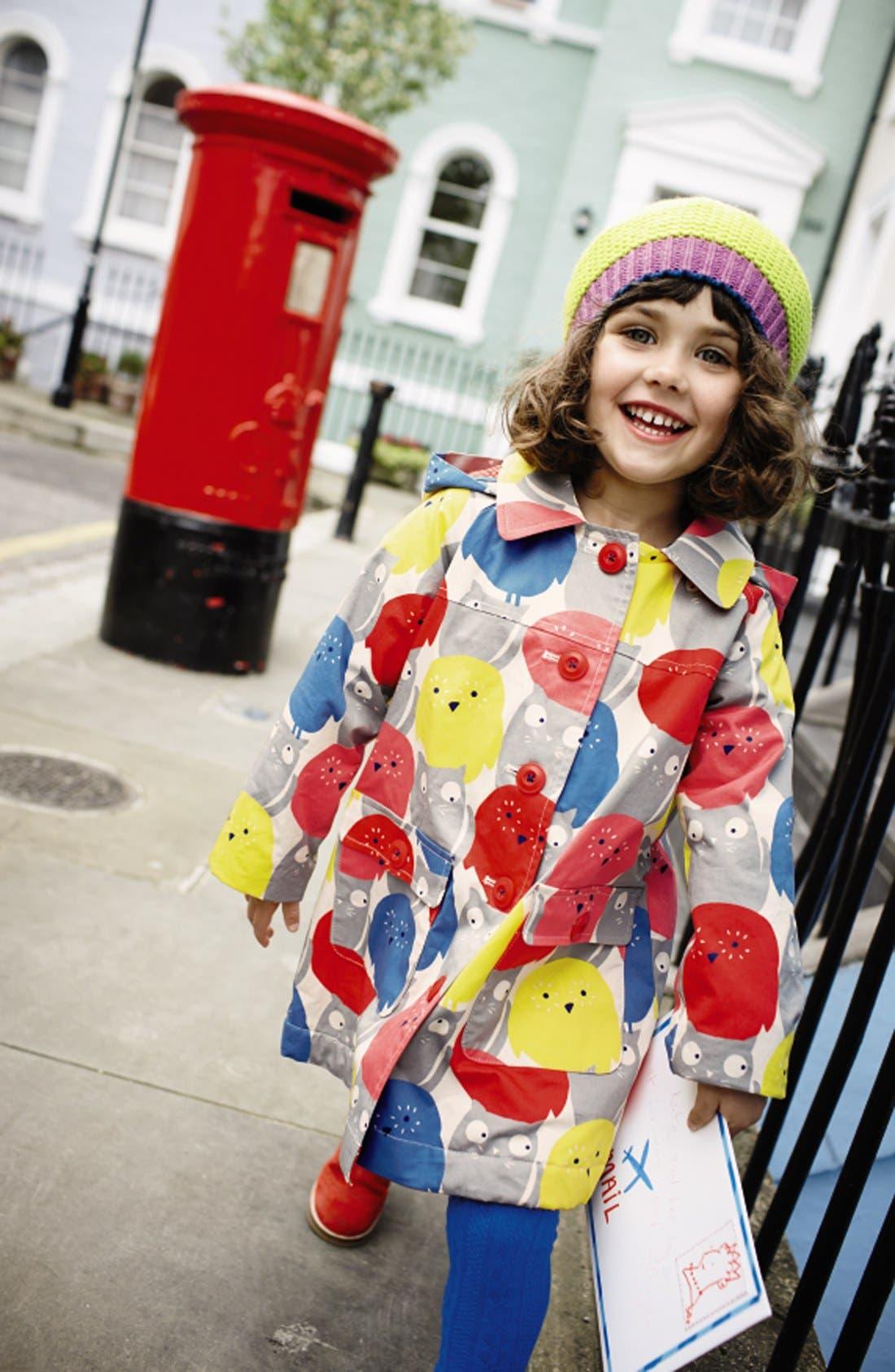 Alternate Image 3  - Mini Boden 'Rainy Day' Raincoat (Toddler Girls, Little Girls & Big Girls)