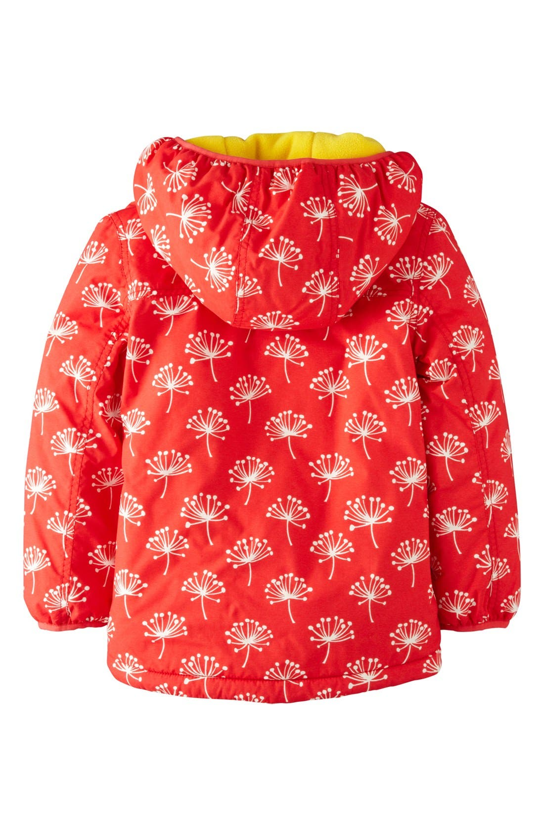 Alternate Image 2  - Mini Boden Print Water Resistant Hooded Anorak (Little Girls & Big Girls)