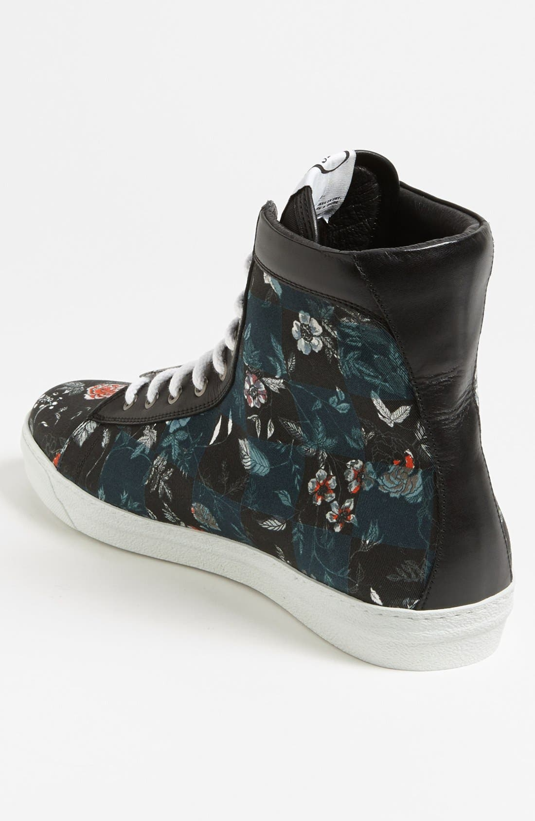 Alternate Image 2  - McQ by Alexander McQueen Floral High Cut Sneaker