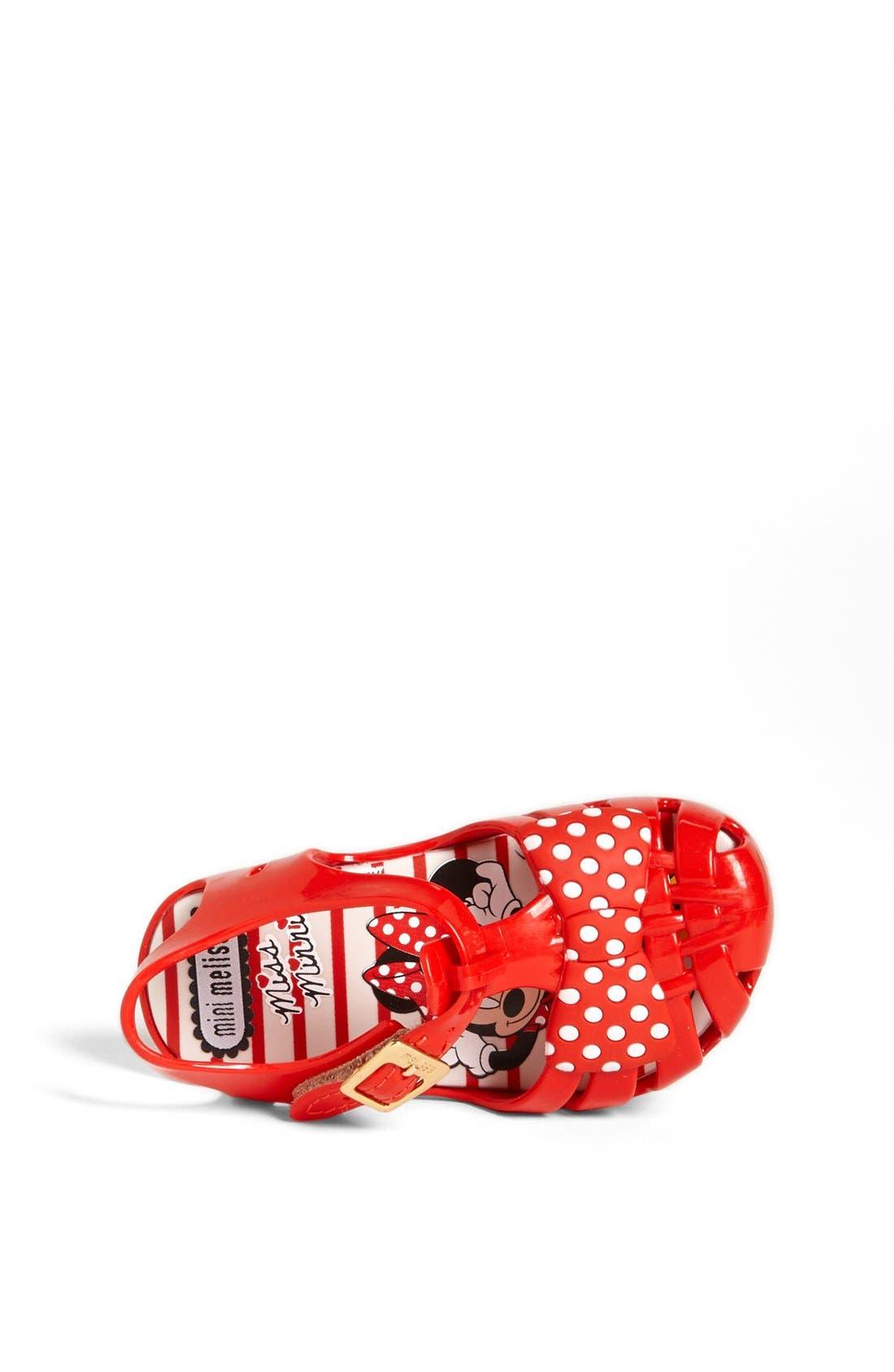 Alternate Image 3  - Mini Melissa 'Aranha - Minnie Mouse®' Sandal (Walker & Toddler)
