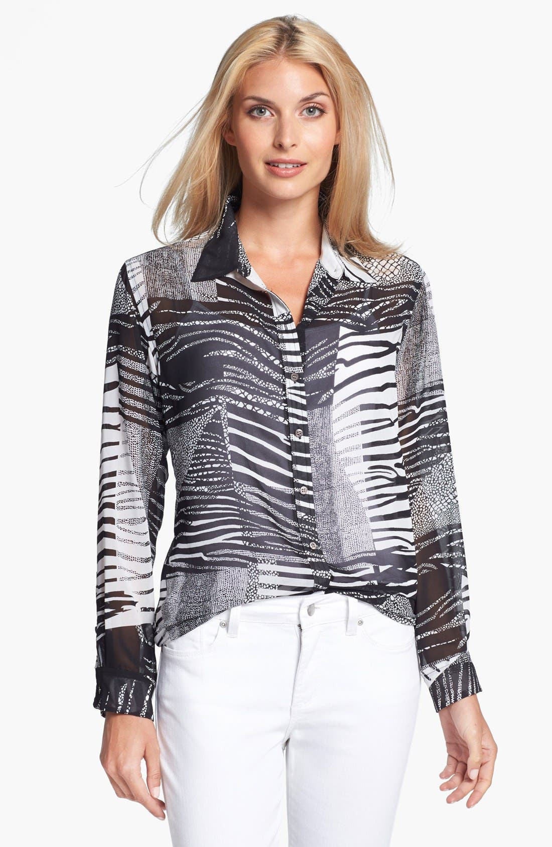 Alternate Image 1 Selected - Chaus Animal Print Blouse