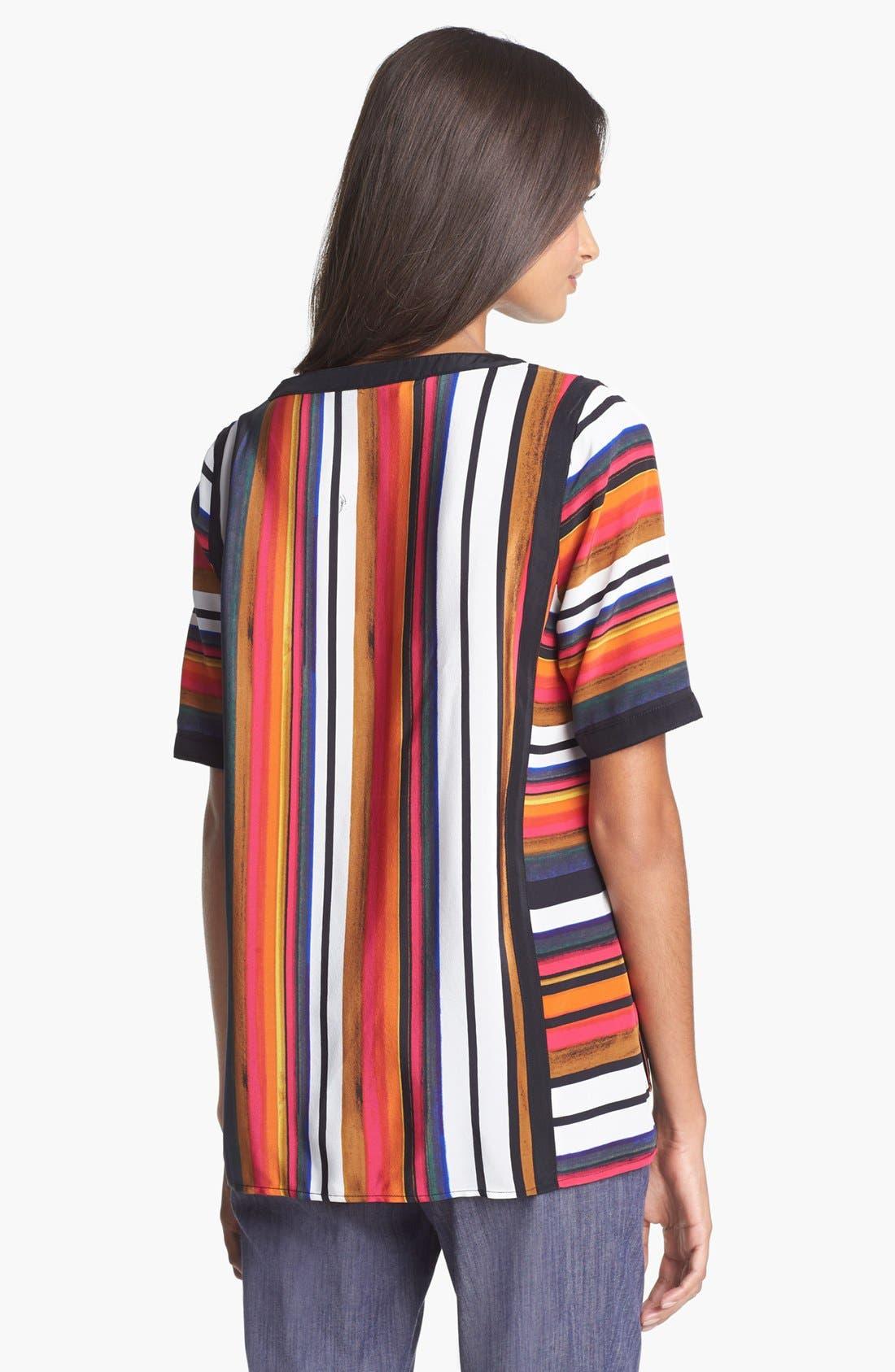 Alternate Image 2  - Trina Turk 'Pathway' Stripe Silk Top