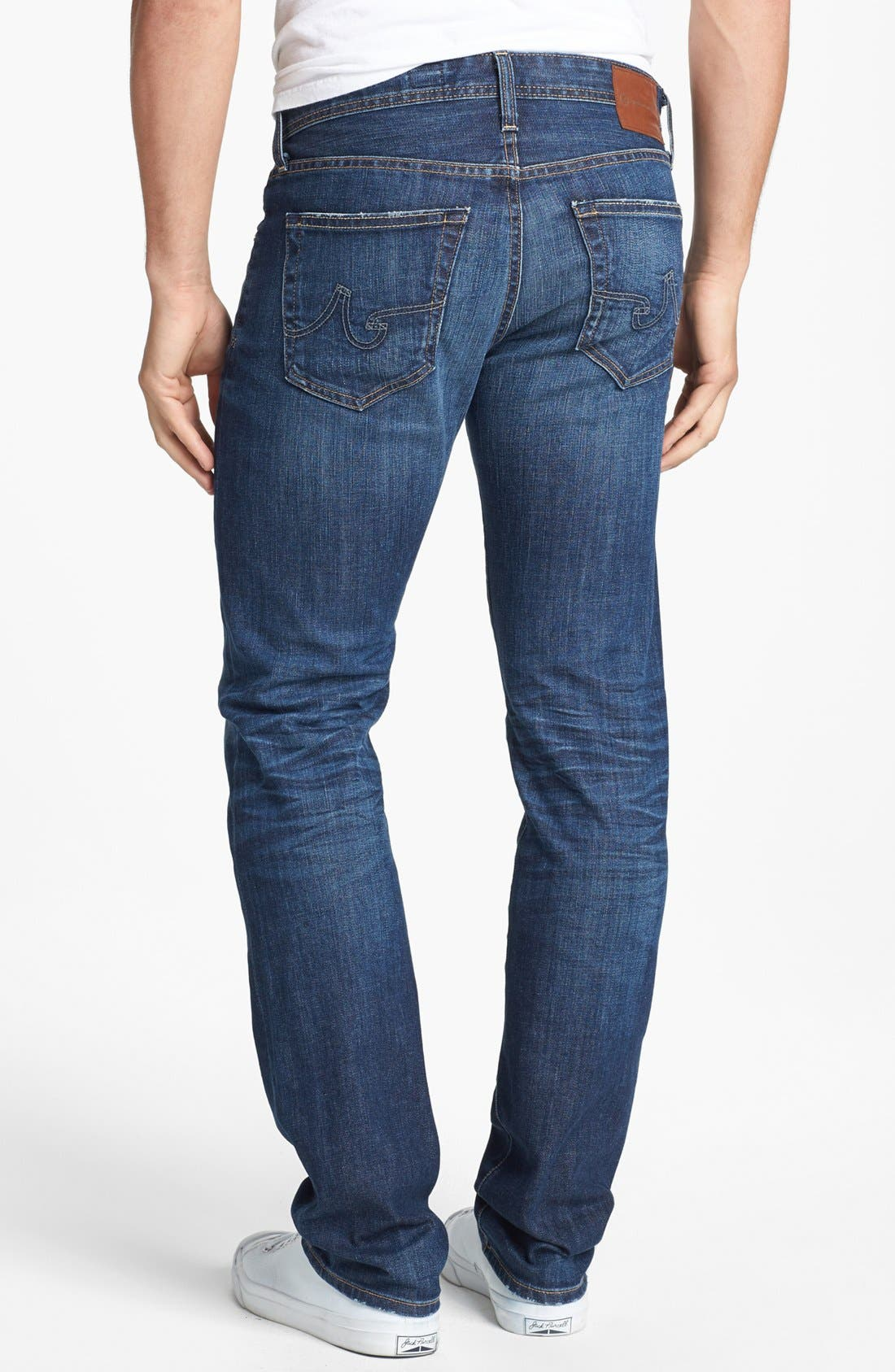 Alternate Image 2  - AG 'Matchbox' Slim Fit Jeans (Ten Years)