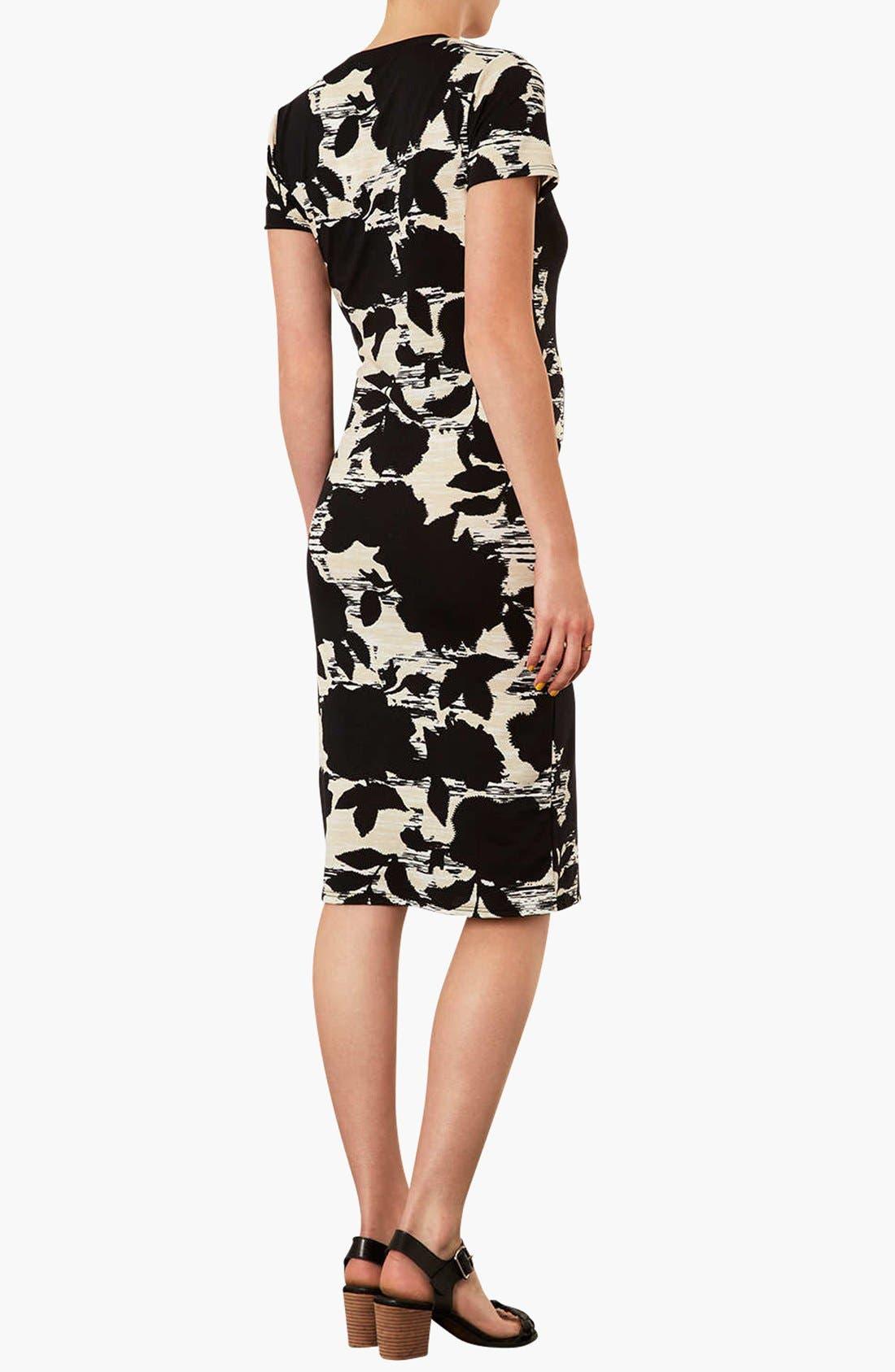 Alternate Image 3  - Topshop 'Craft Dark Flower' Body-Con Maternity Dress