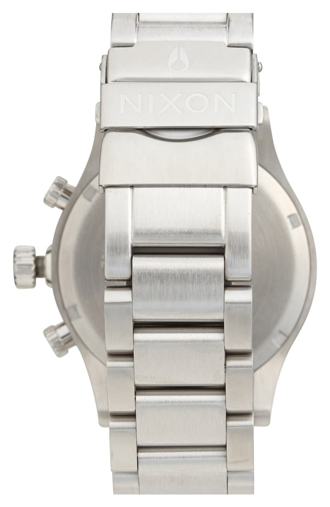 Alternate Image 2  - Nixon 'The 42-20 Chrono' Crystal Bracelet Watch, 42mm