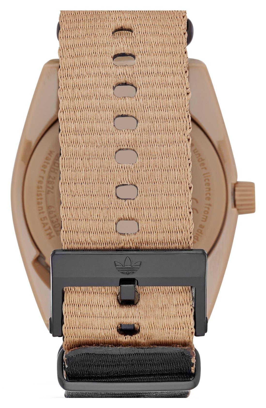 Alternate Image 2  - adidas Originals 'Santiago - Special Edition' Fabric Strap Watch, 42mm