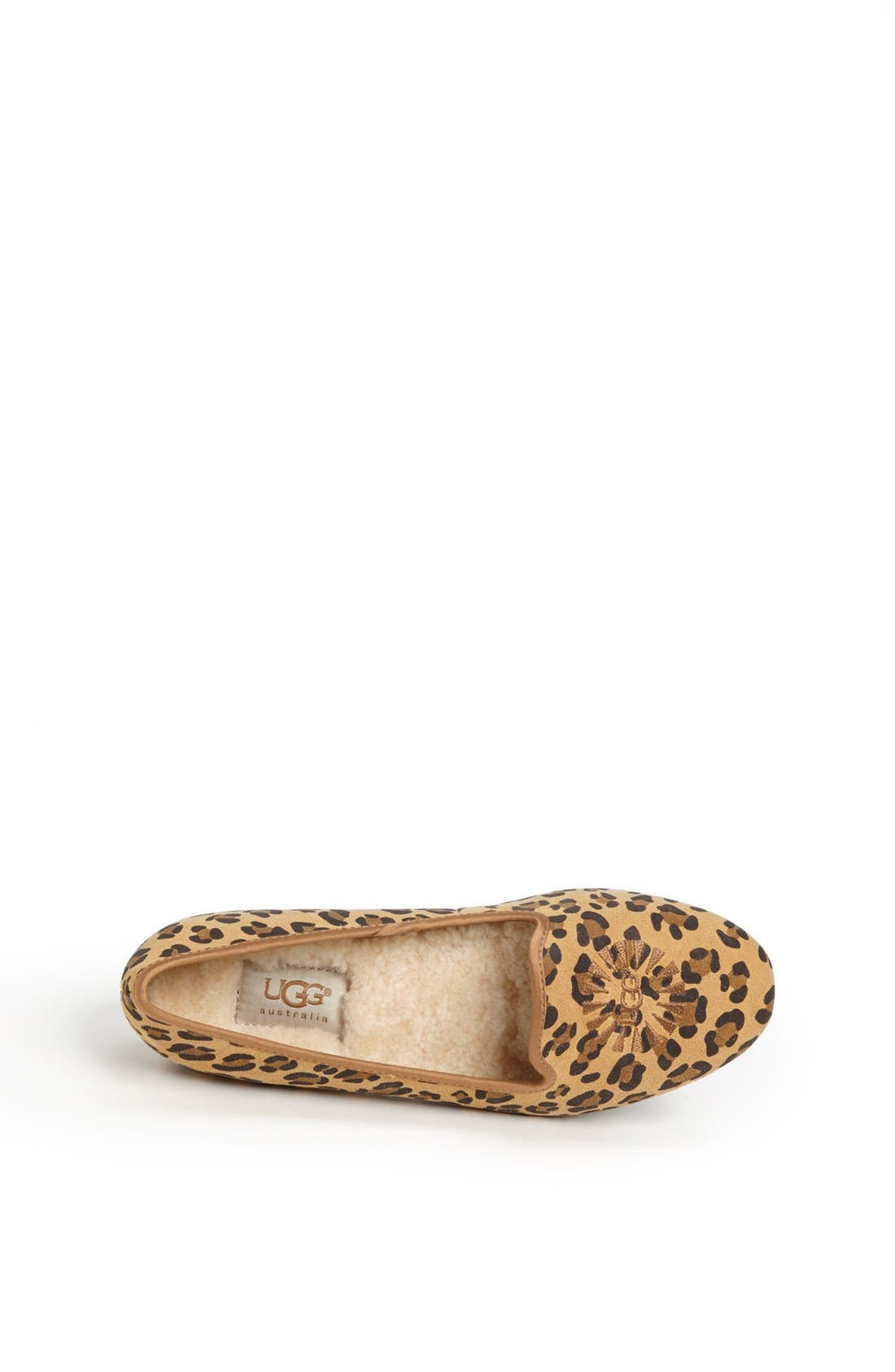 Alternate Image 3  - UGG® Australia 'Carey - Leopard' Flat (Little Kid & Big Kid)