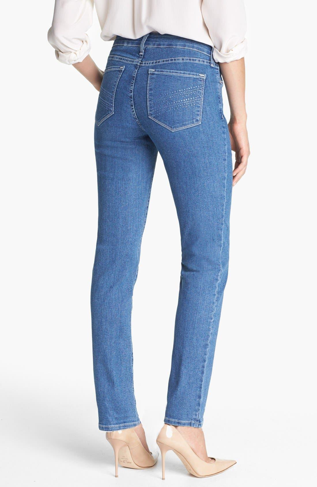 Alternate Image 3  - NYDJ 'Sheri' Embellished Pocket Stretch Skinny Jeans (Maryland)