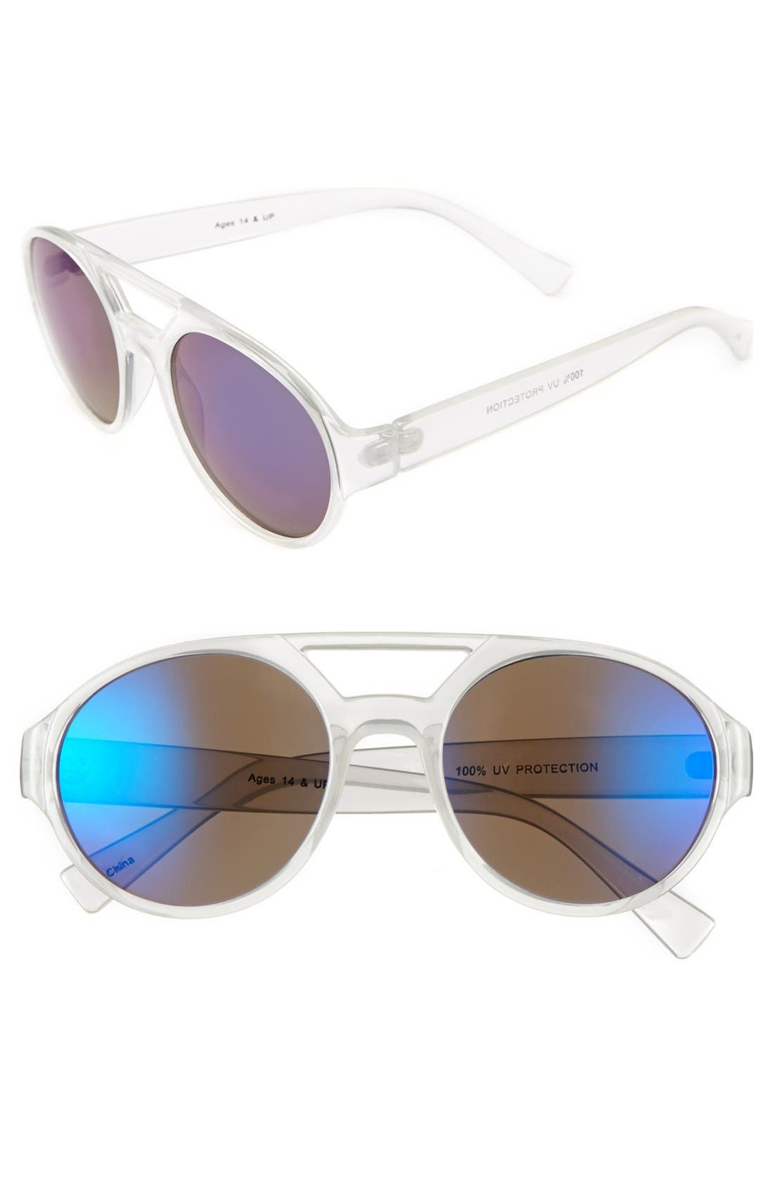 Main Image - FE NY Aviator Sunglasses