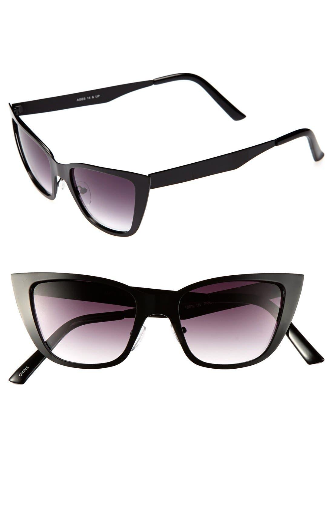 Alternate Image 1 Selected - FE NY 45mm Metal Cat's Eye Sunglasses