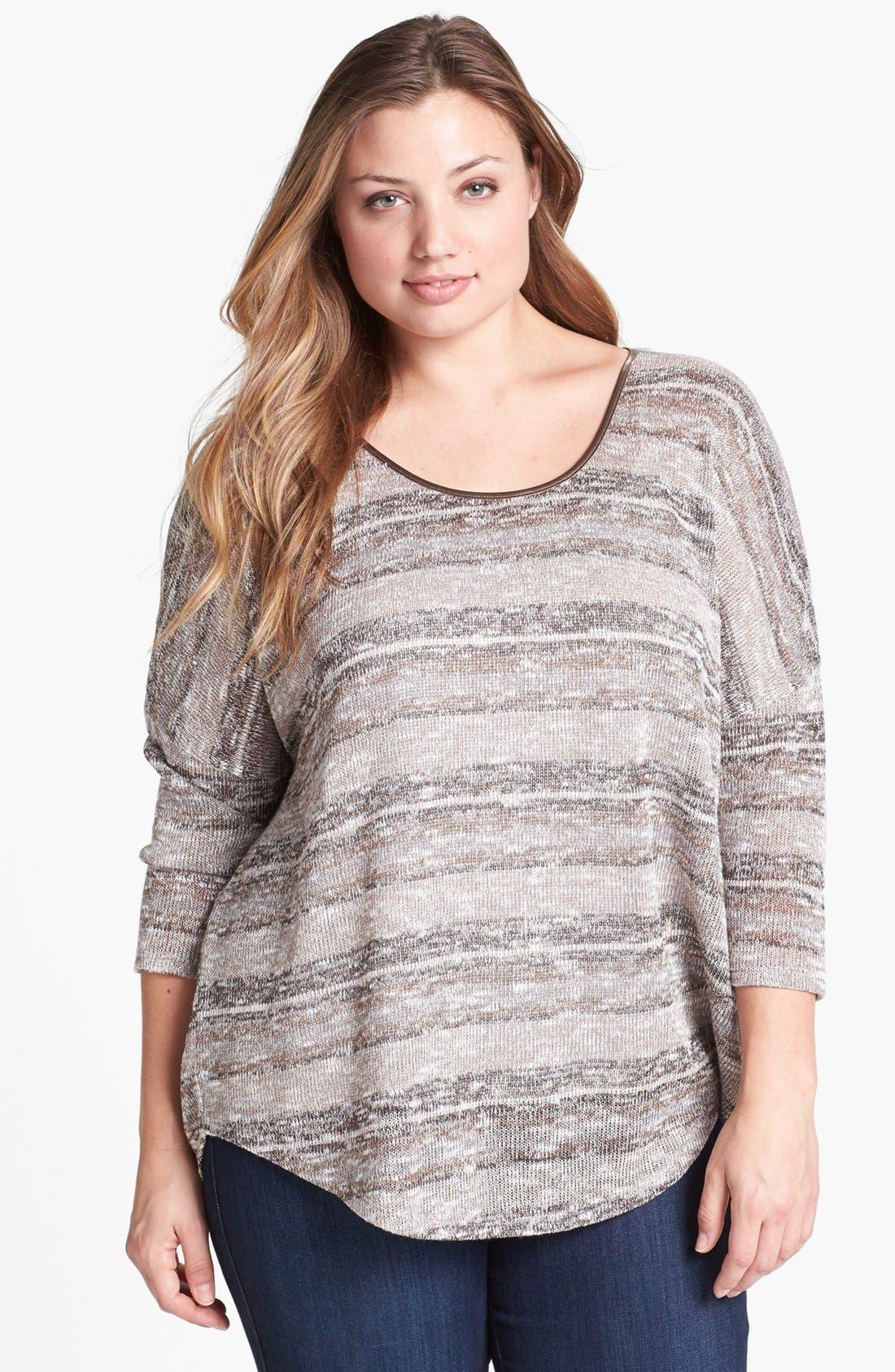 Alternate Image 1 Selected - Jessica Simpson 'Melanee' Sweater (Plus Size)