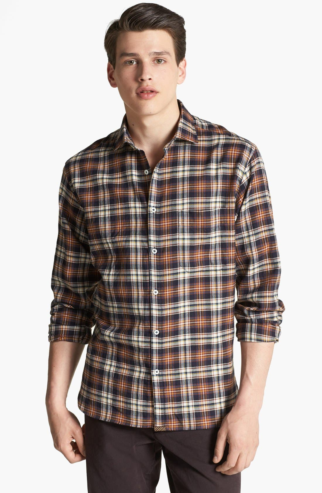 Main Image - Billy Reid 'John T' Plaid Shirt